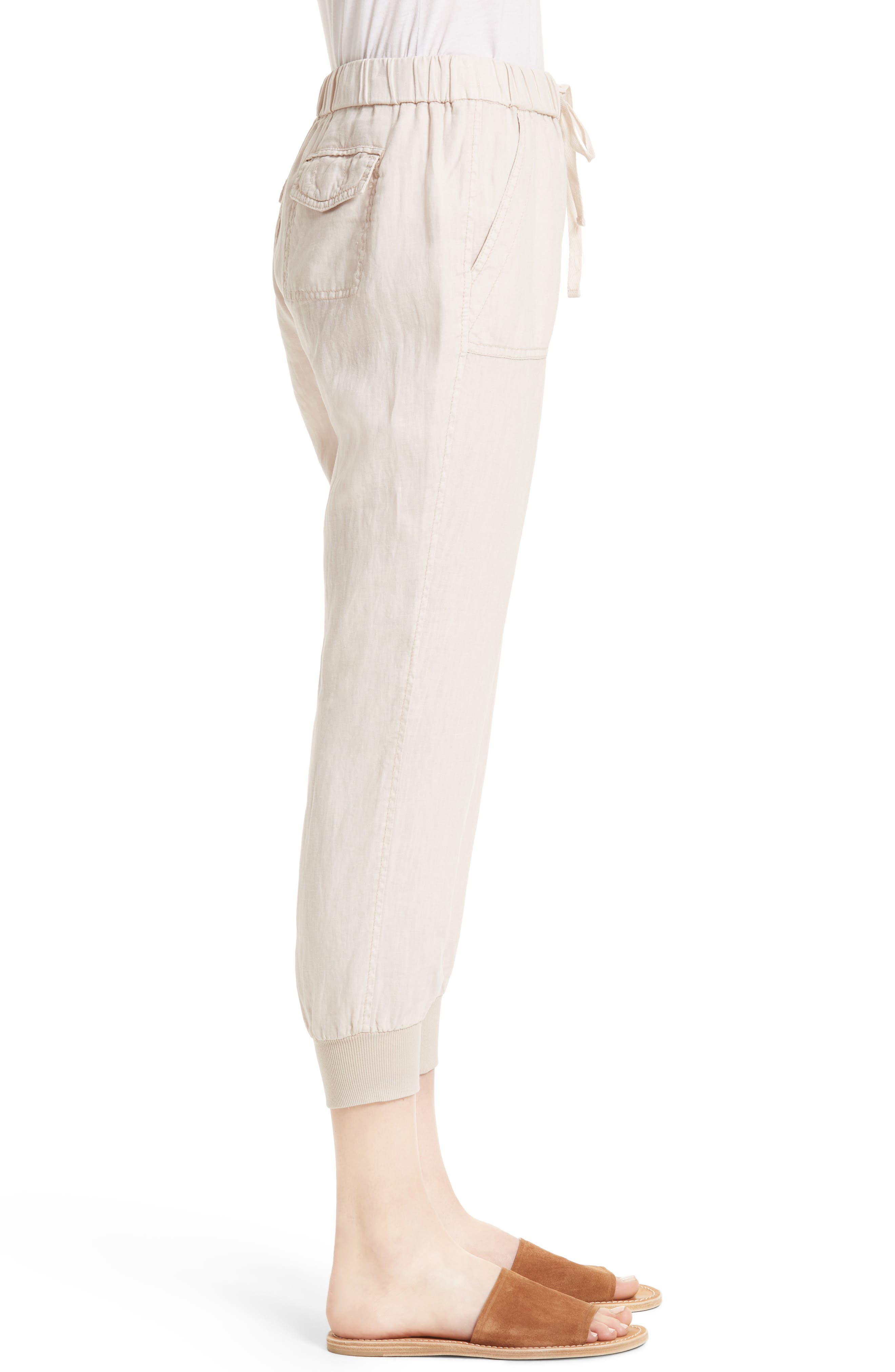 Cyntia Linen Pants,                             Alternate thumbnail 3, color,                             Smokey Quartz