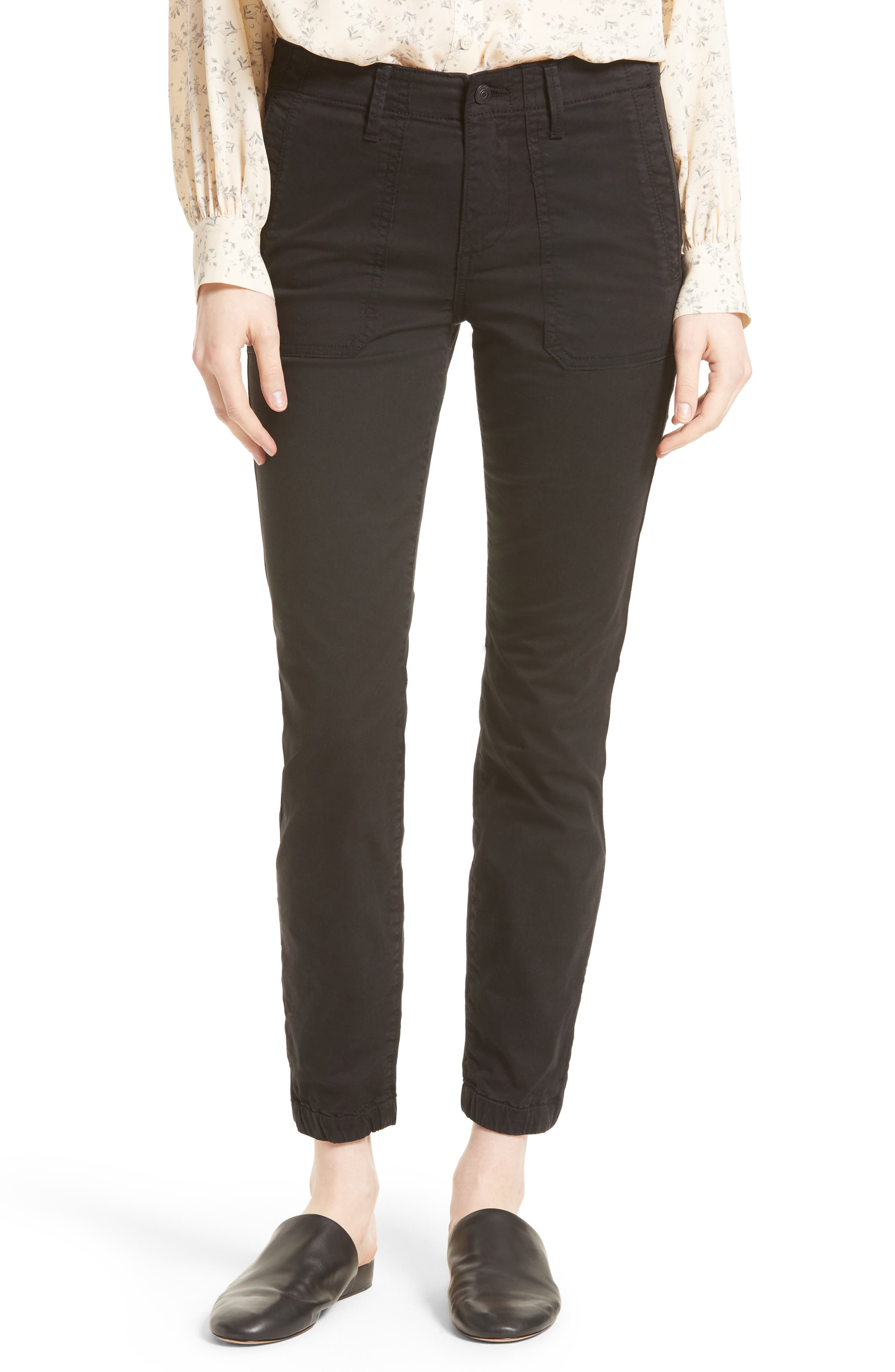 VINCE Zip Ankle Utility Pants
