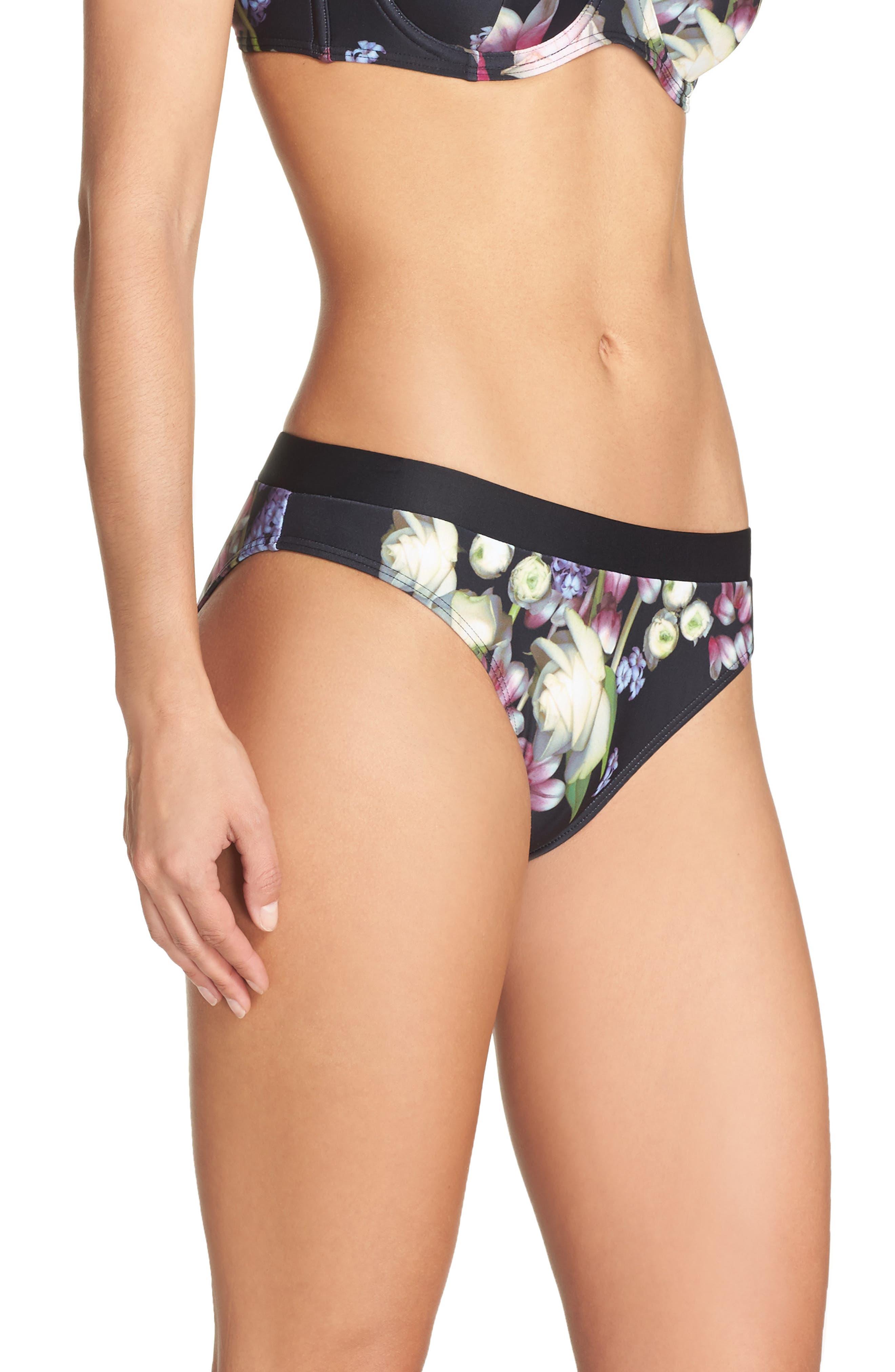 Kensington Bikini Bottoms,                             Alternate thumbnail 3, color,                             Black