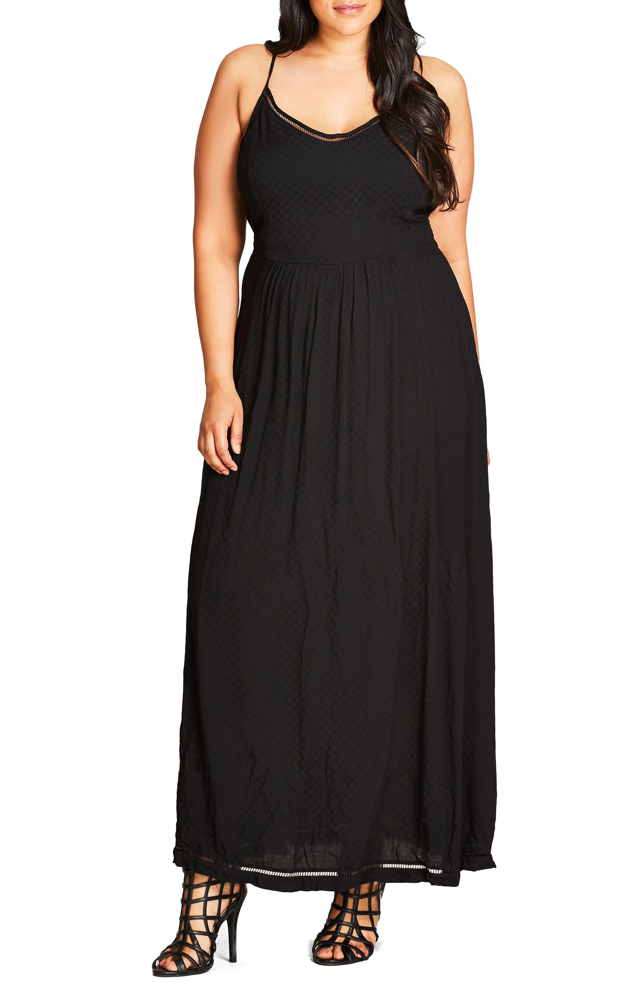 Picnic Party Maxi Dress,                         Main,                         color, Black