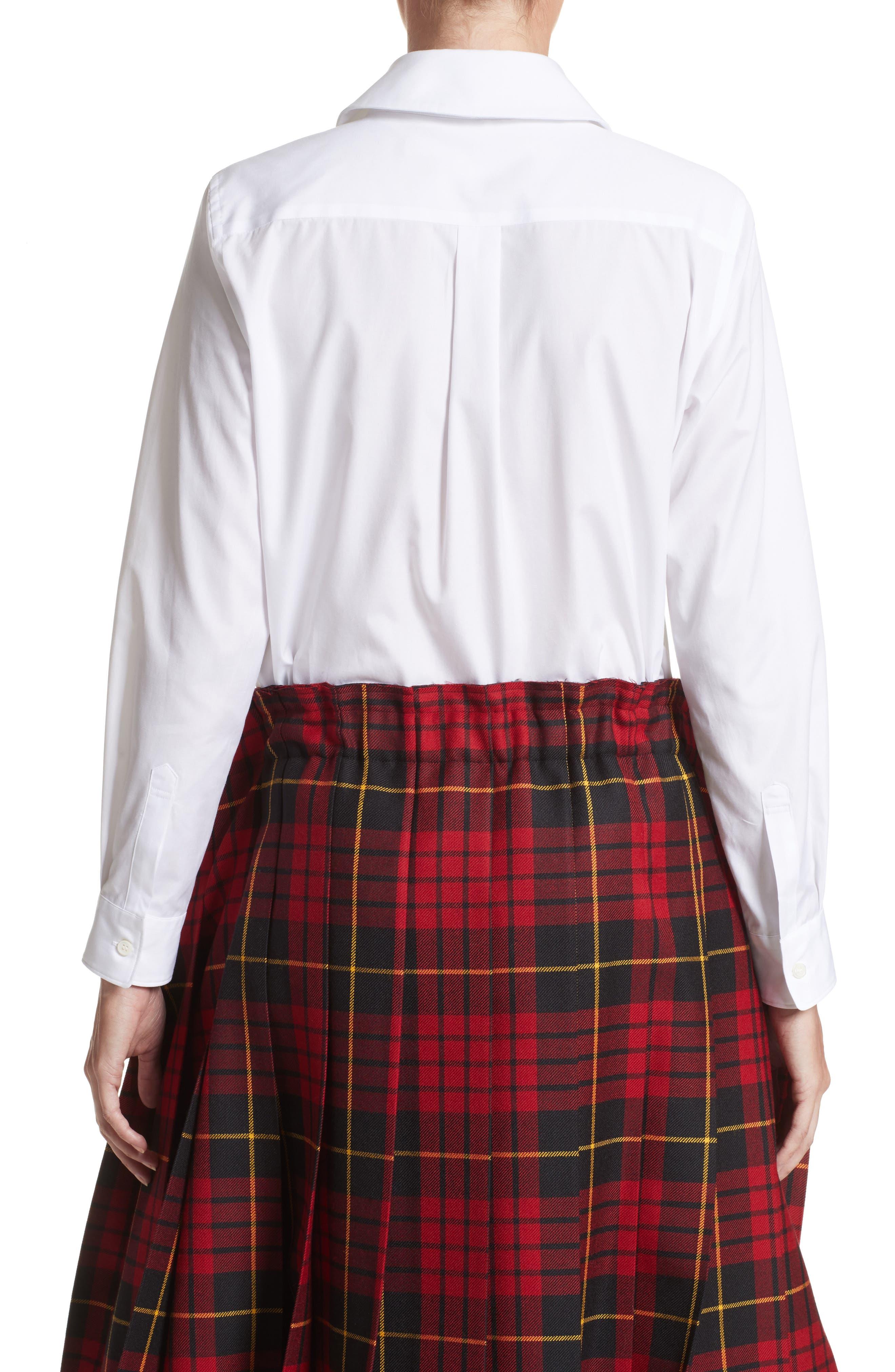 Cotton Broadcloth Blouse,                             Alternate thumbnail 2, color,                             White