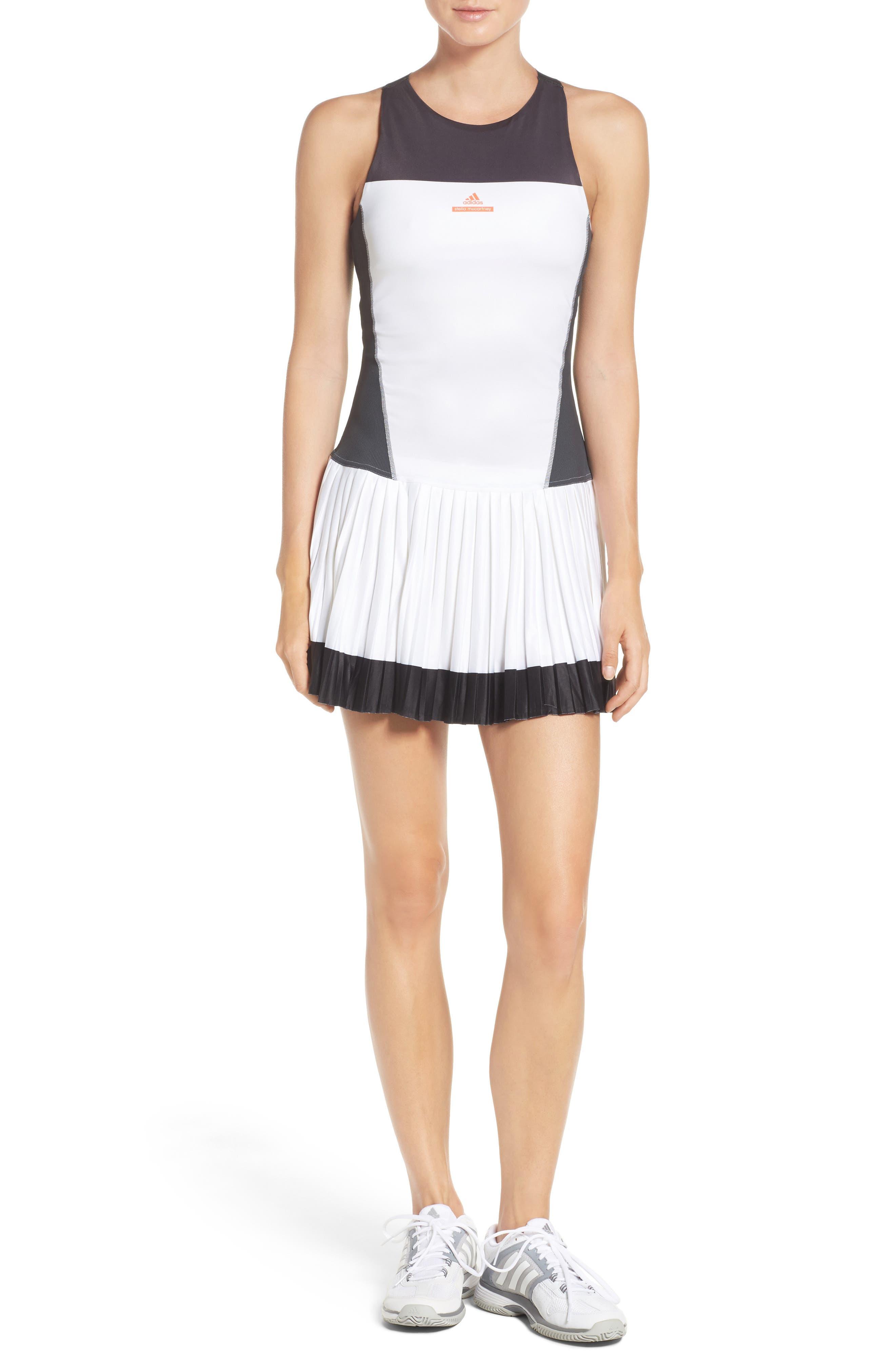 Barricade Tennis Dress & Shorts Set,                             Main thumbnail 1, color,                             White/ Solid Grey