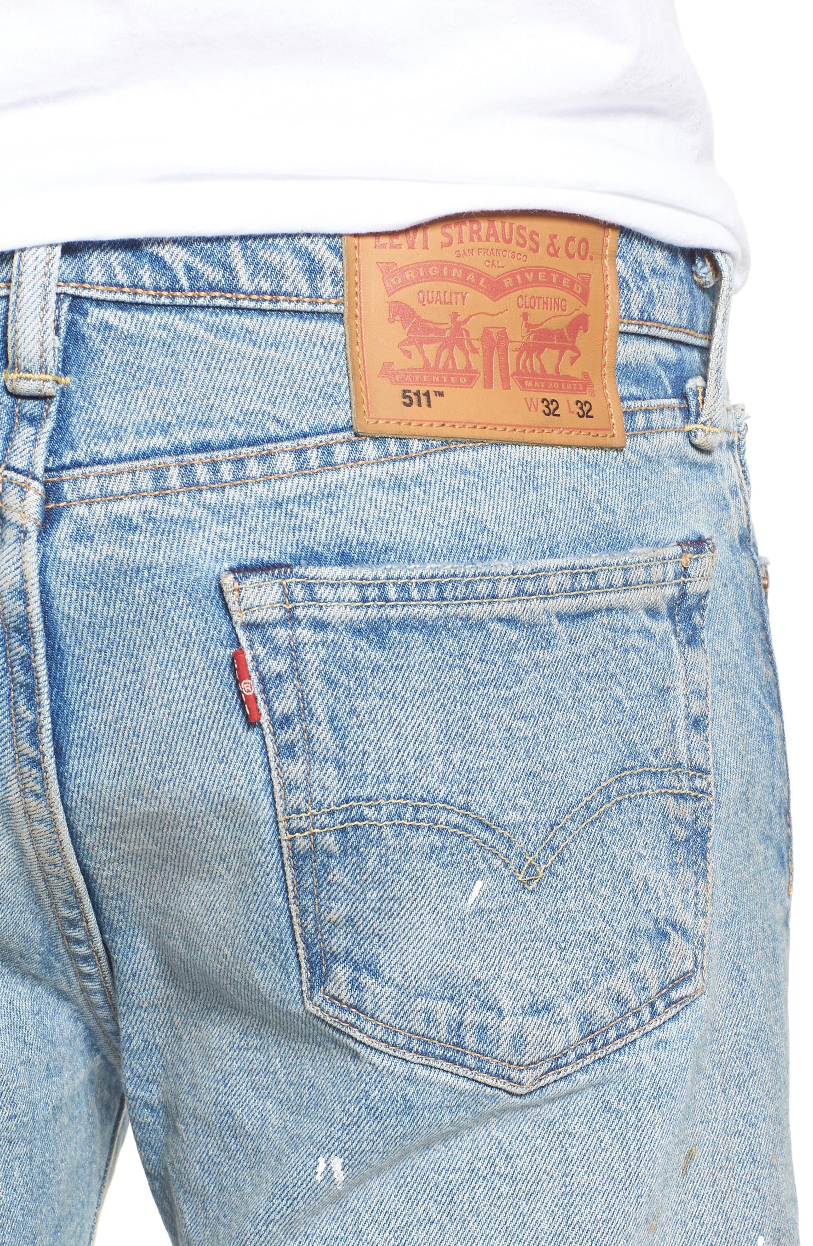 511<sup>™</sup> Slim Fit Jeans,                             Alternate thumbnail 4, color,                             Michigan Dx