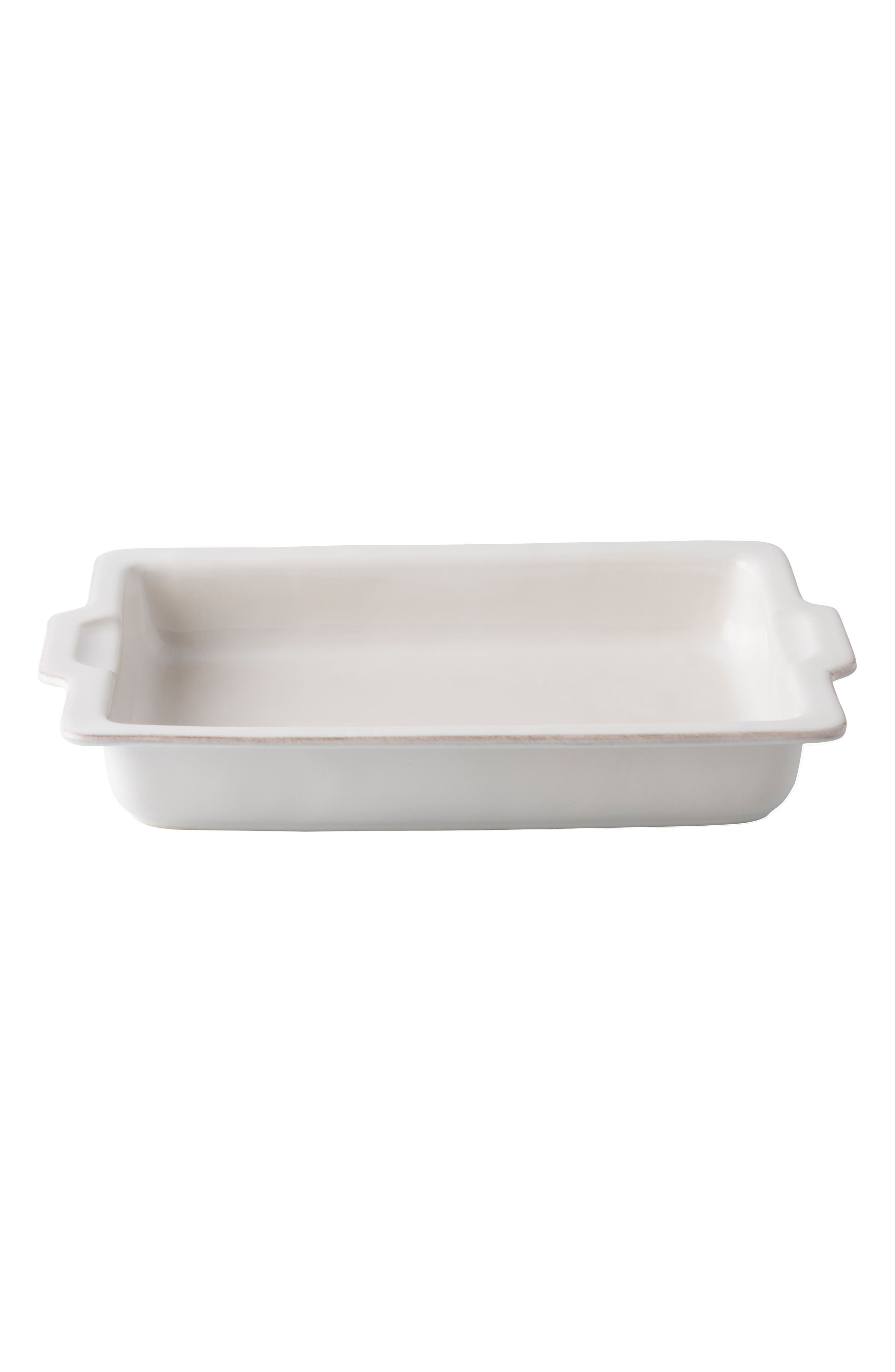 Puro Large Ceramic Baking Dish,                         Main,                         color, Whitewash