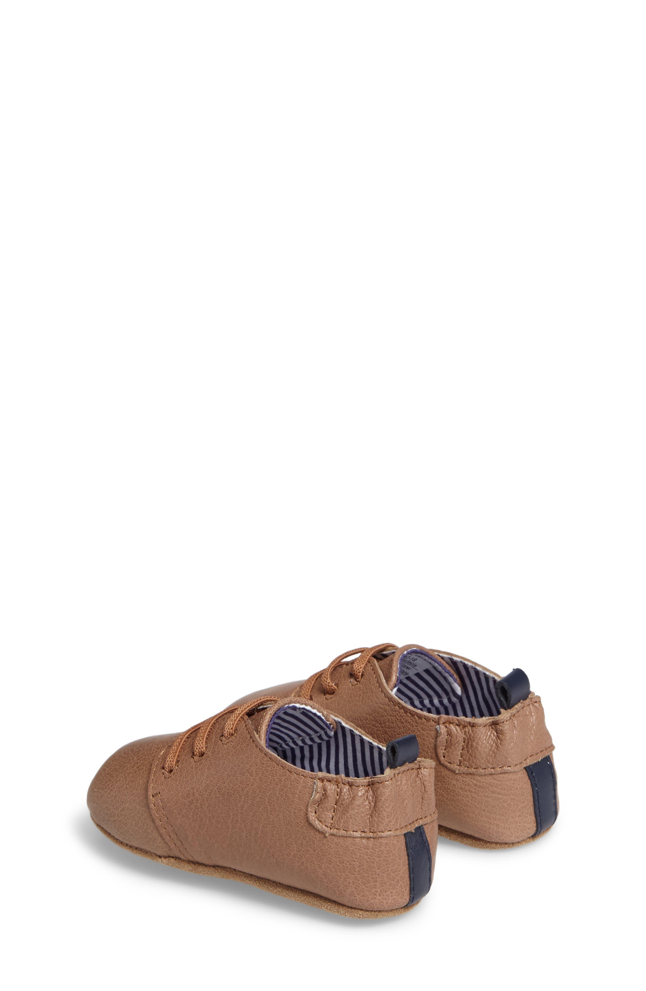 Alternate Image 2  - Robeez® Owen Crib Shoe (Baby & Walker)