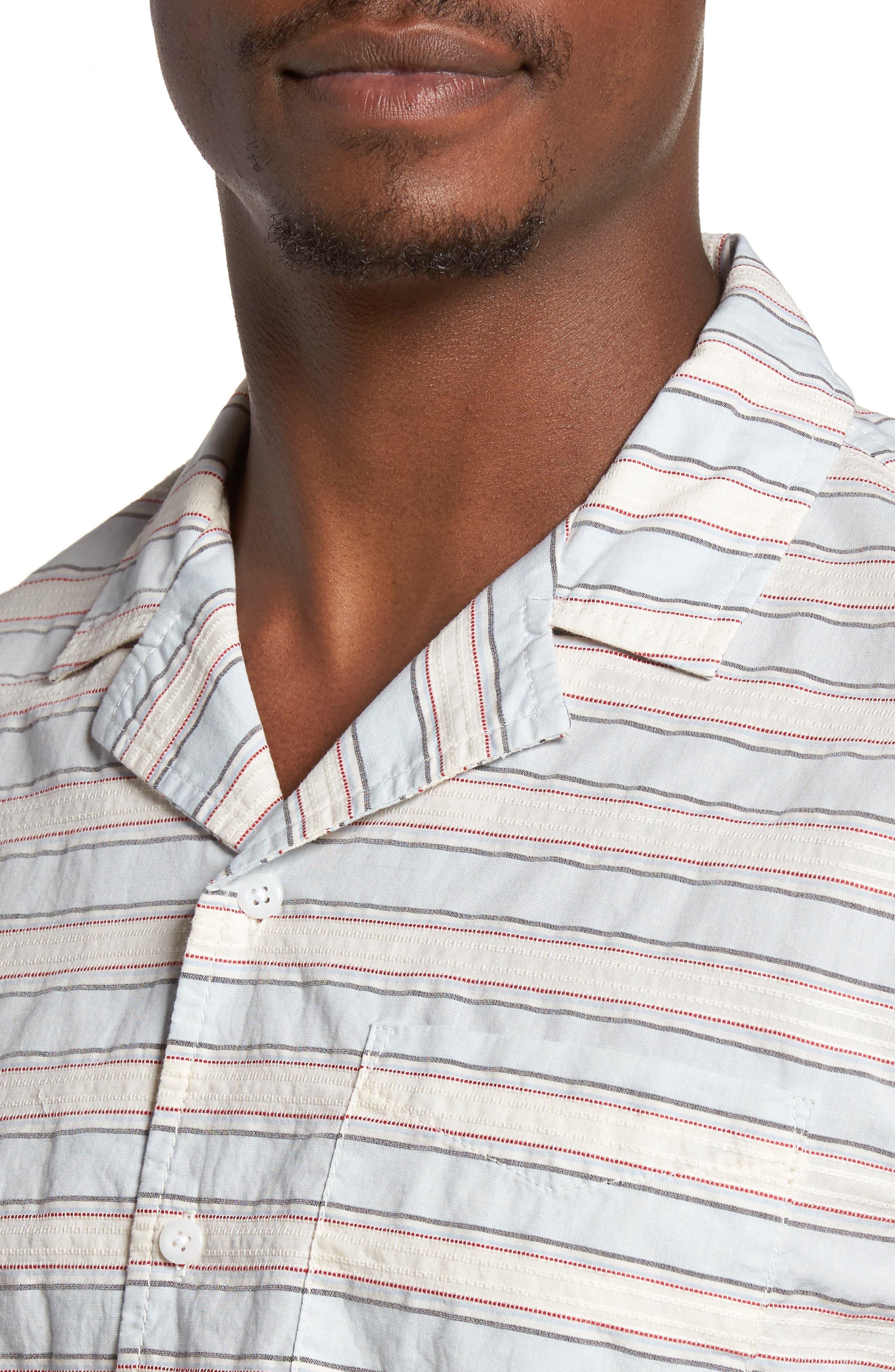 Alternate Image 4  - 1901 Jacquard Stripe Camp Shirt
