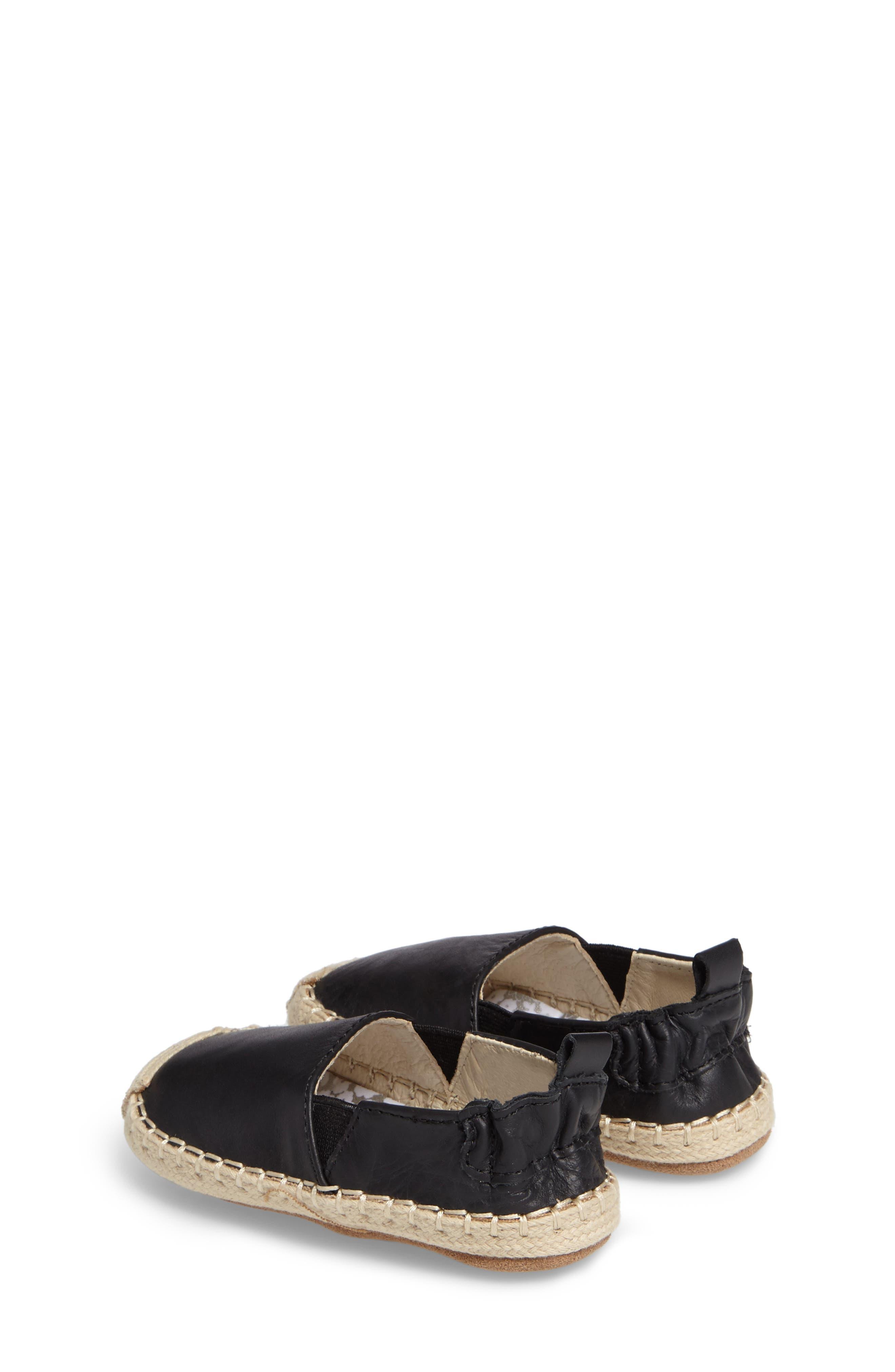Ellie Crib Shoe,                             Alternate thumbnail 2, color,                             Black Leather