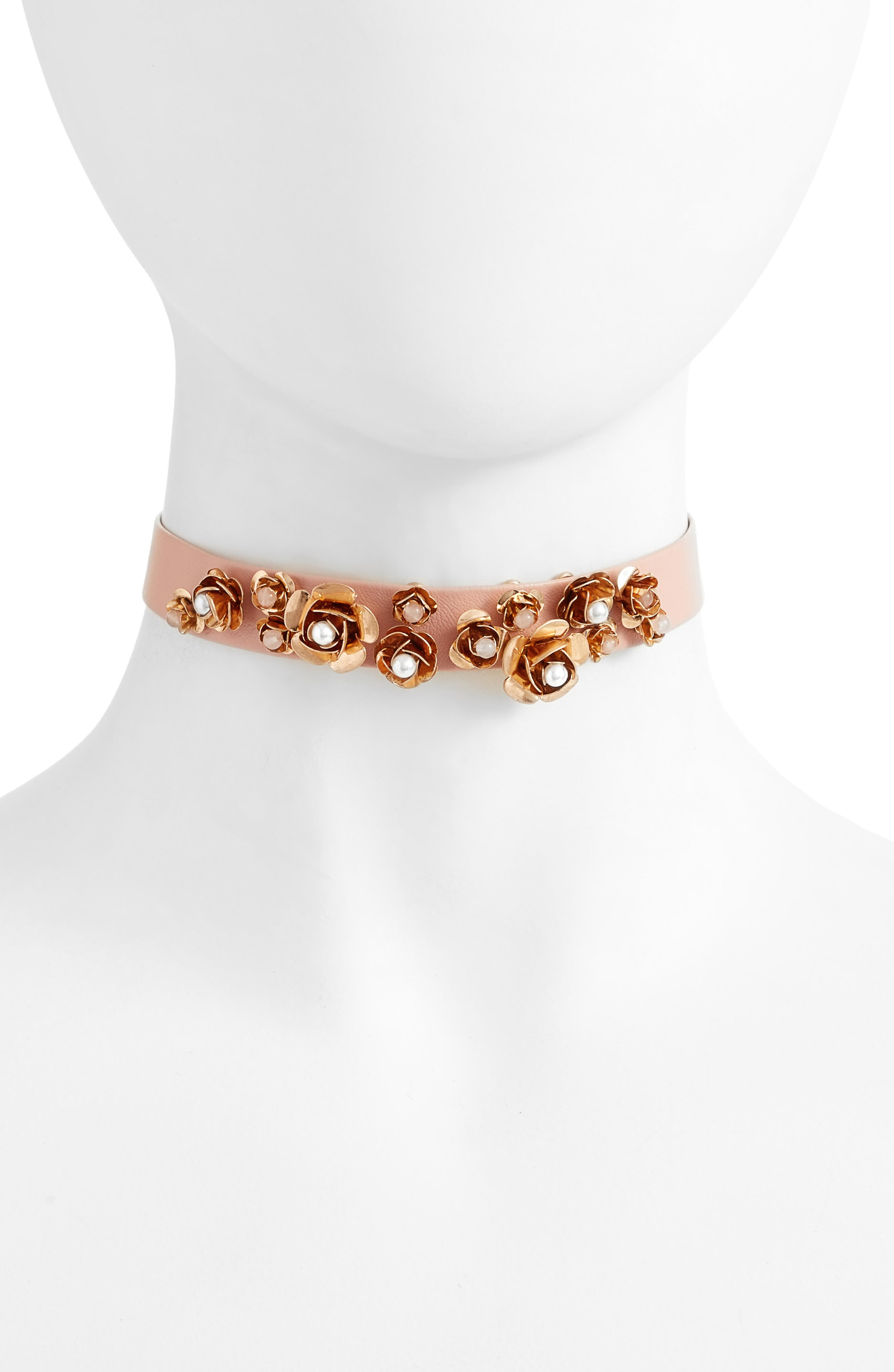 Orchid Choker,                         Main,                         color, Pink/ Gold