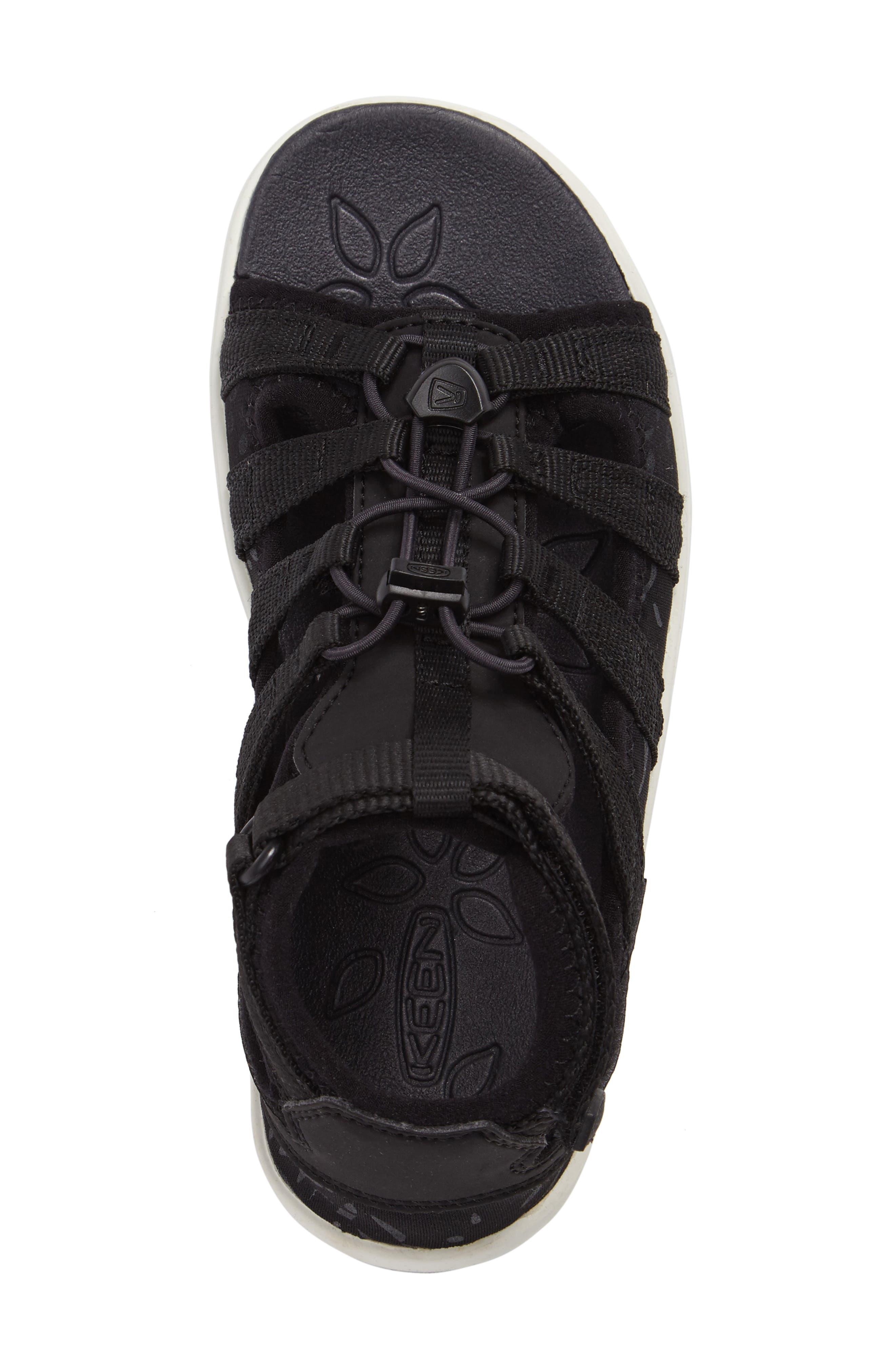 Hadley Adventure Water Friendly Sandal,                             Alternate thumbnail 5, color,                             Black/ White
