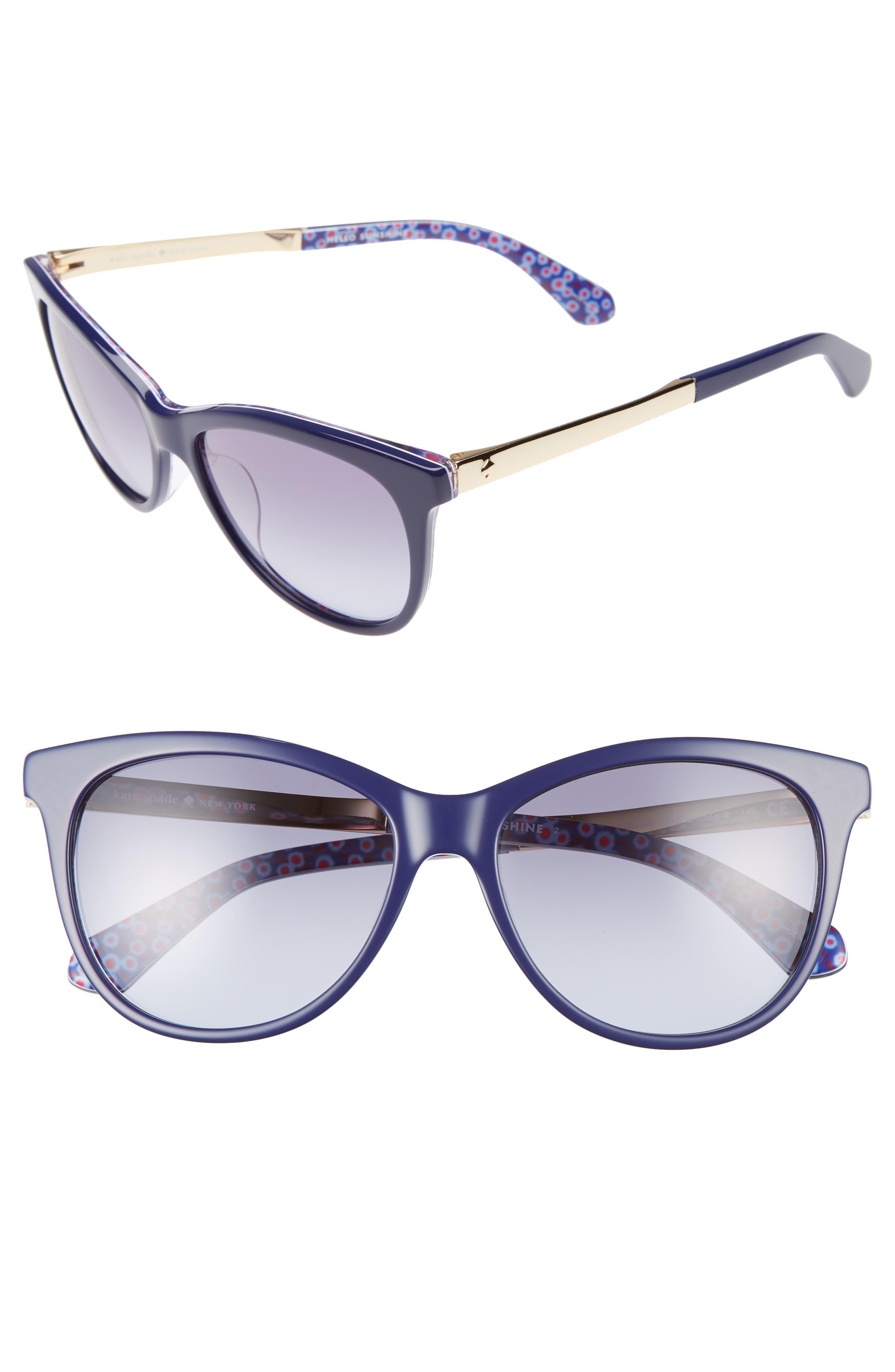 Alternate Image 1 Selected - kate spade new york jizelle 55mm Gradient Lenses Cat Eye Sunglasses