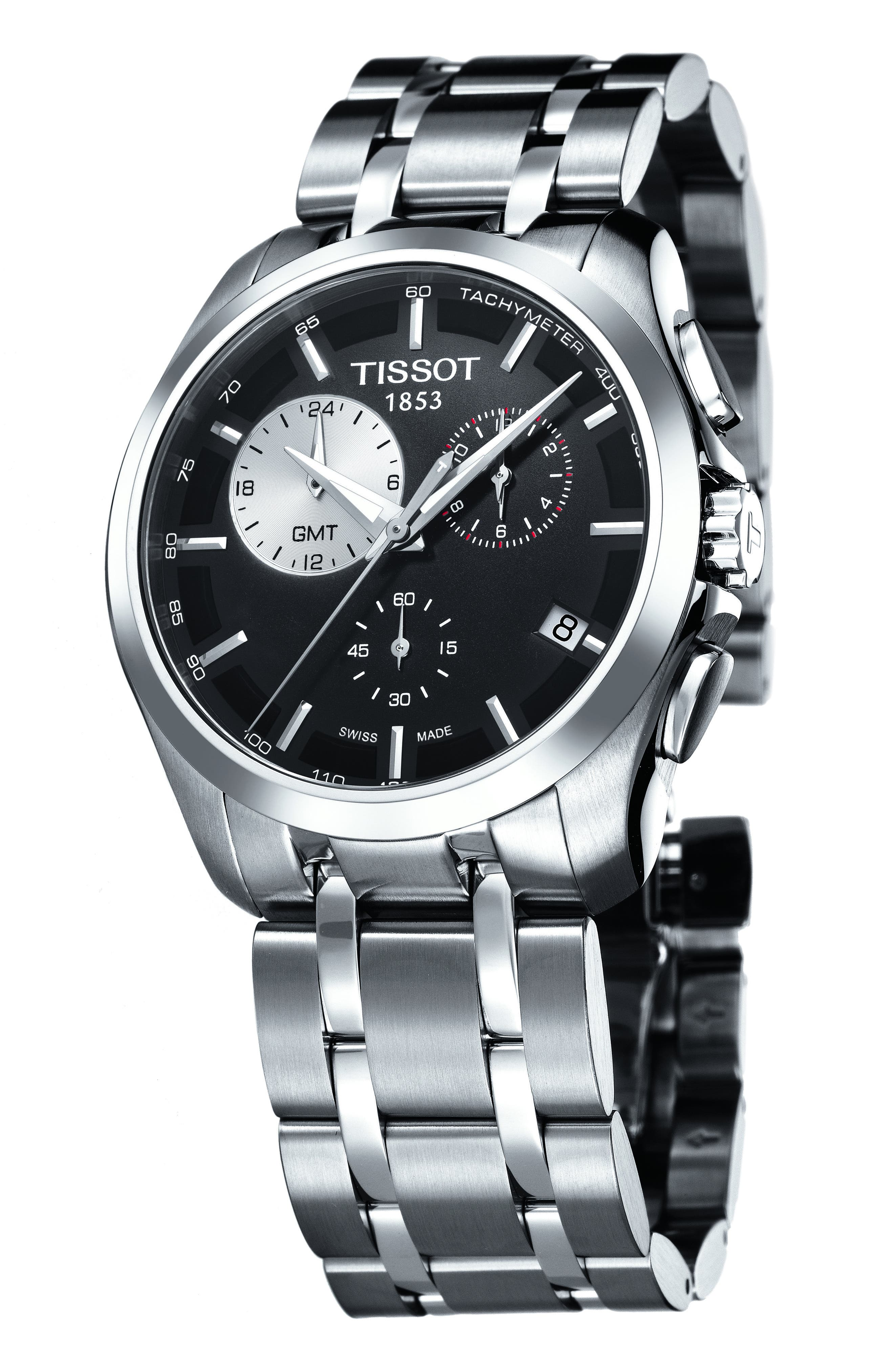 Alternate Image 2  - Tissot Couturier Chronograph Bracelet, 41mm