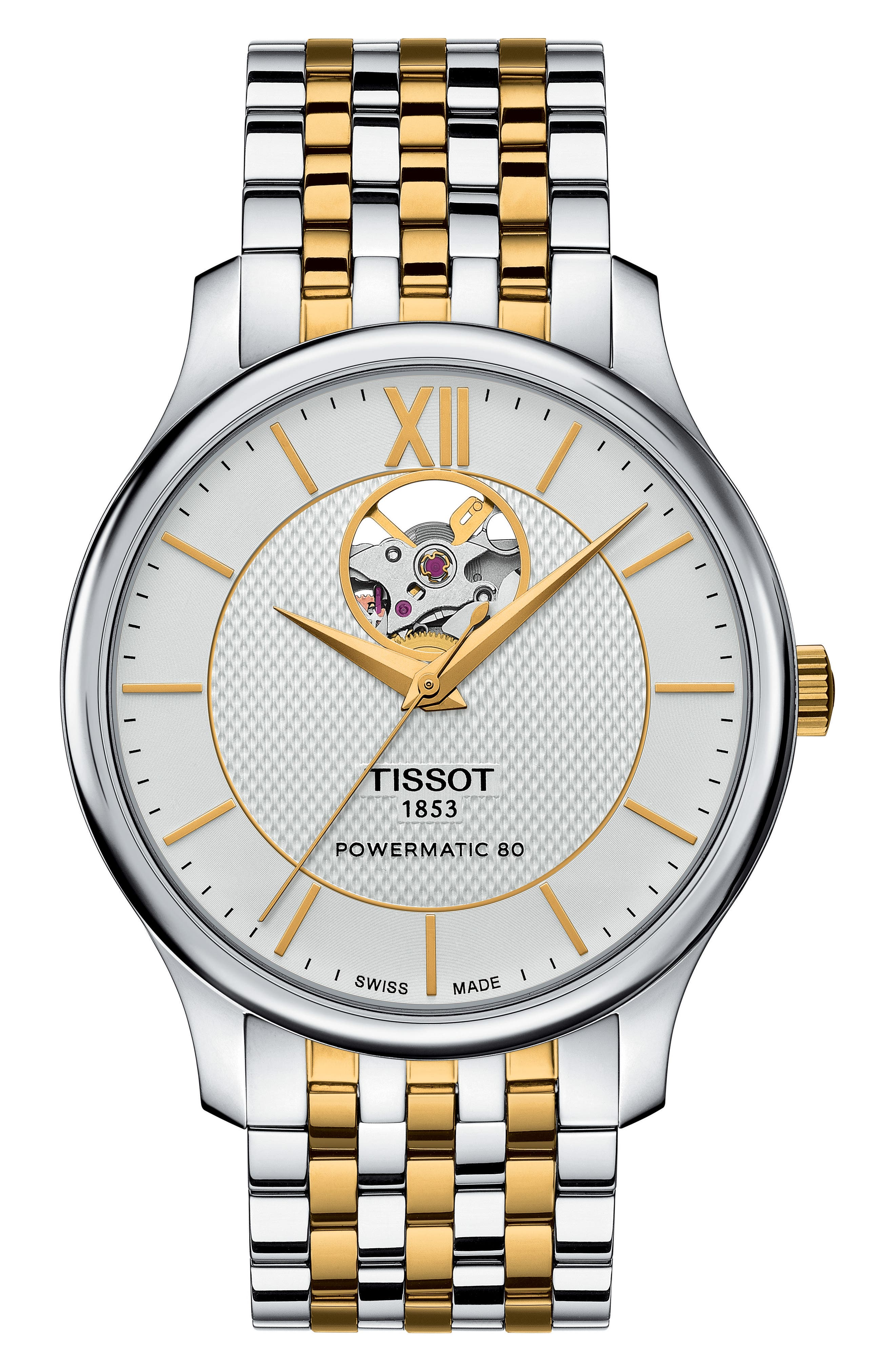 Tradition Bracelet Watch, 40mm,                         Main,                         color, Silver/ Gold