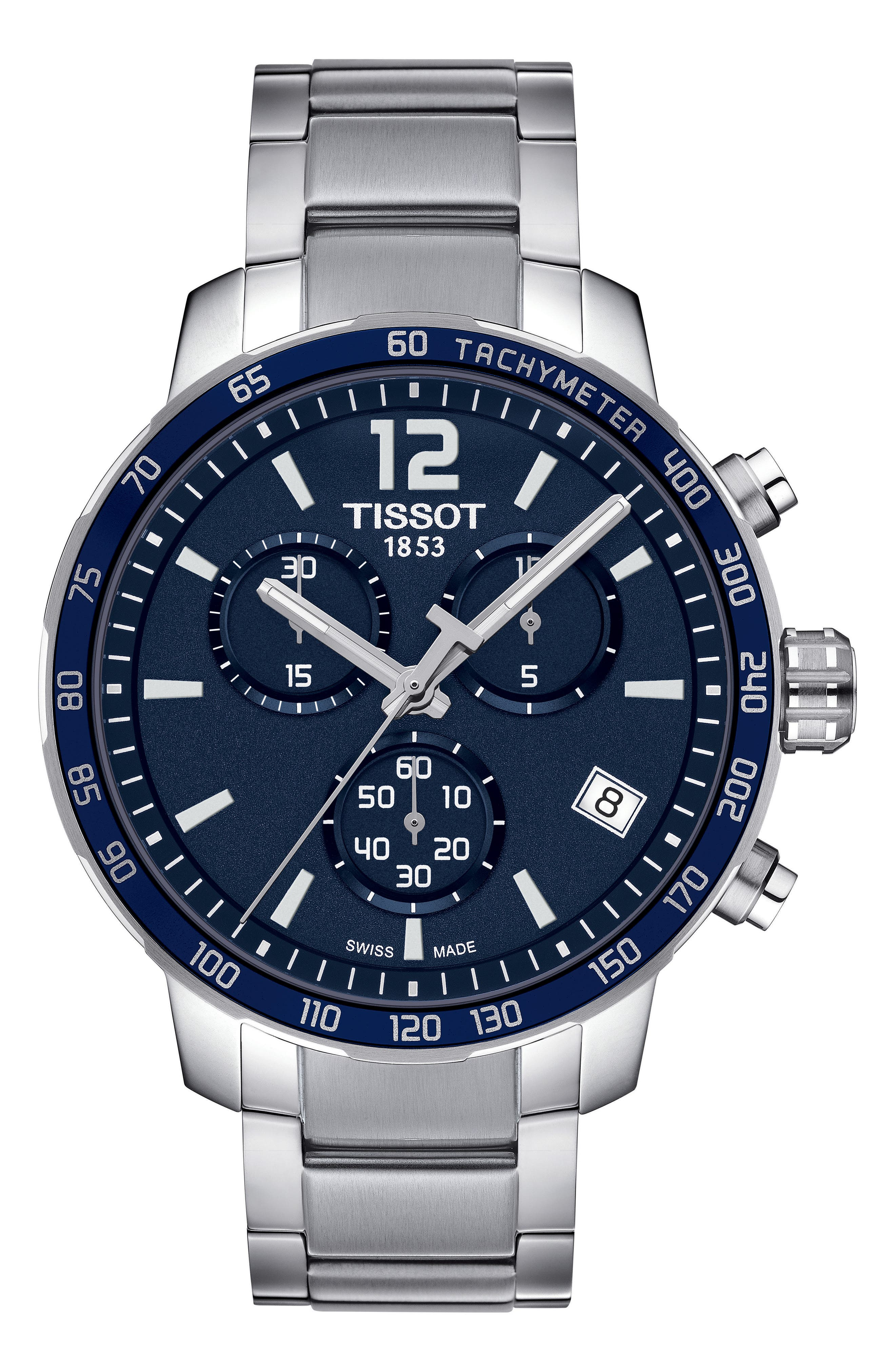 TISSOT Quickster Chronograph Bracelet Watch, 42mm