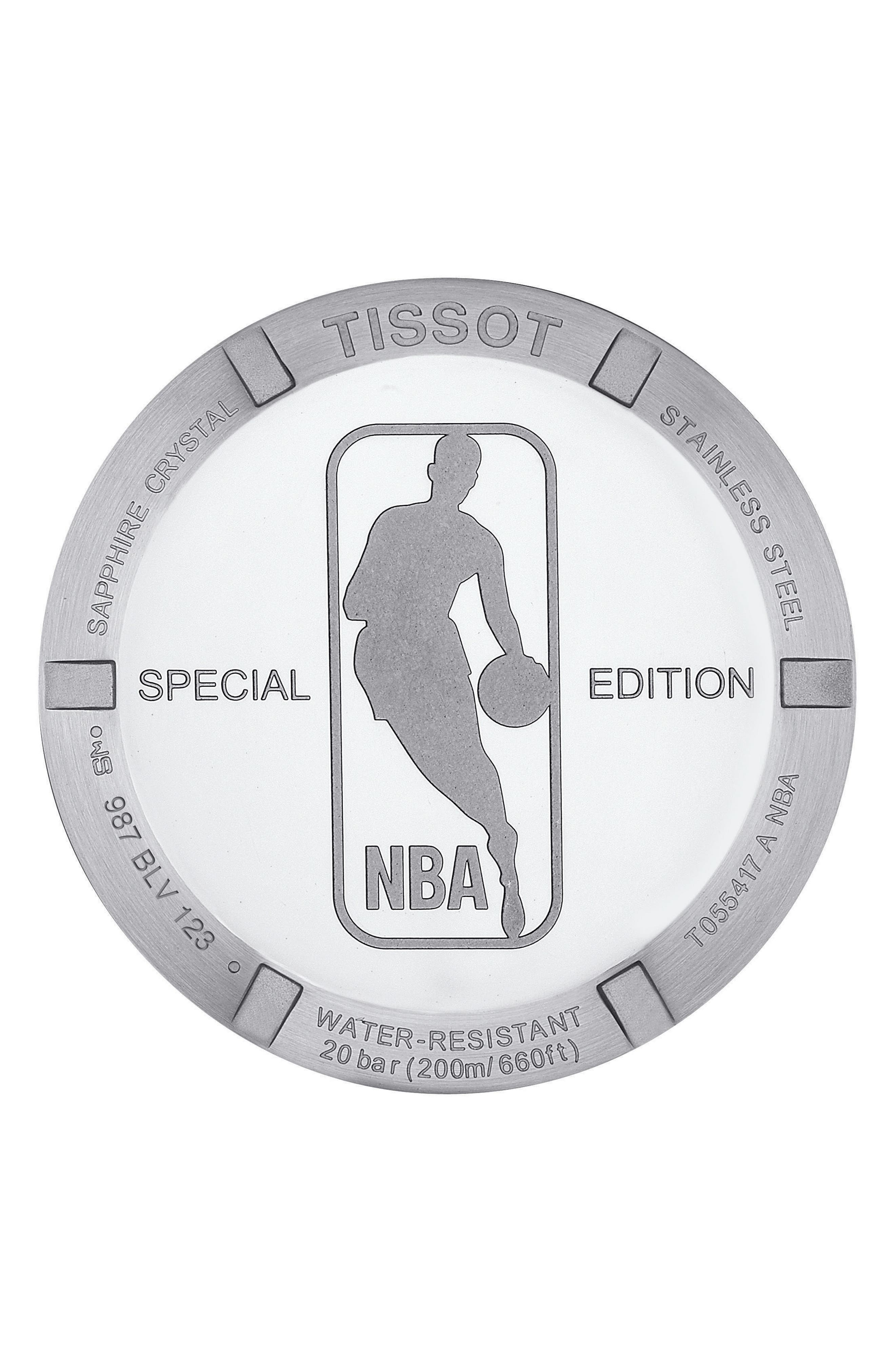 PRC200 Chronograph NBA Bracelet Watch, 41mm,                             Alternate thumbnail 3, color,                             Silver