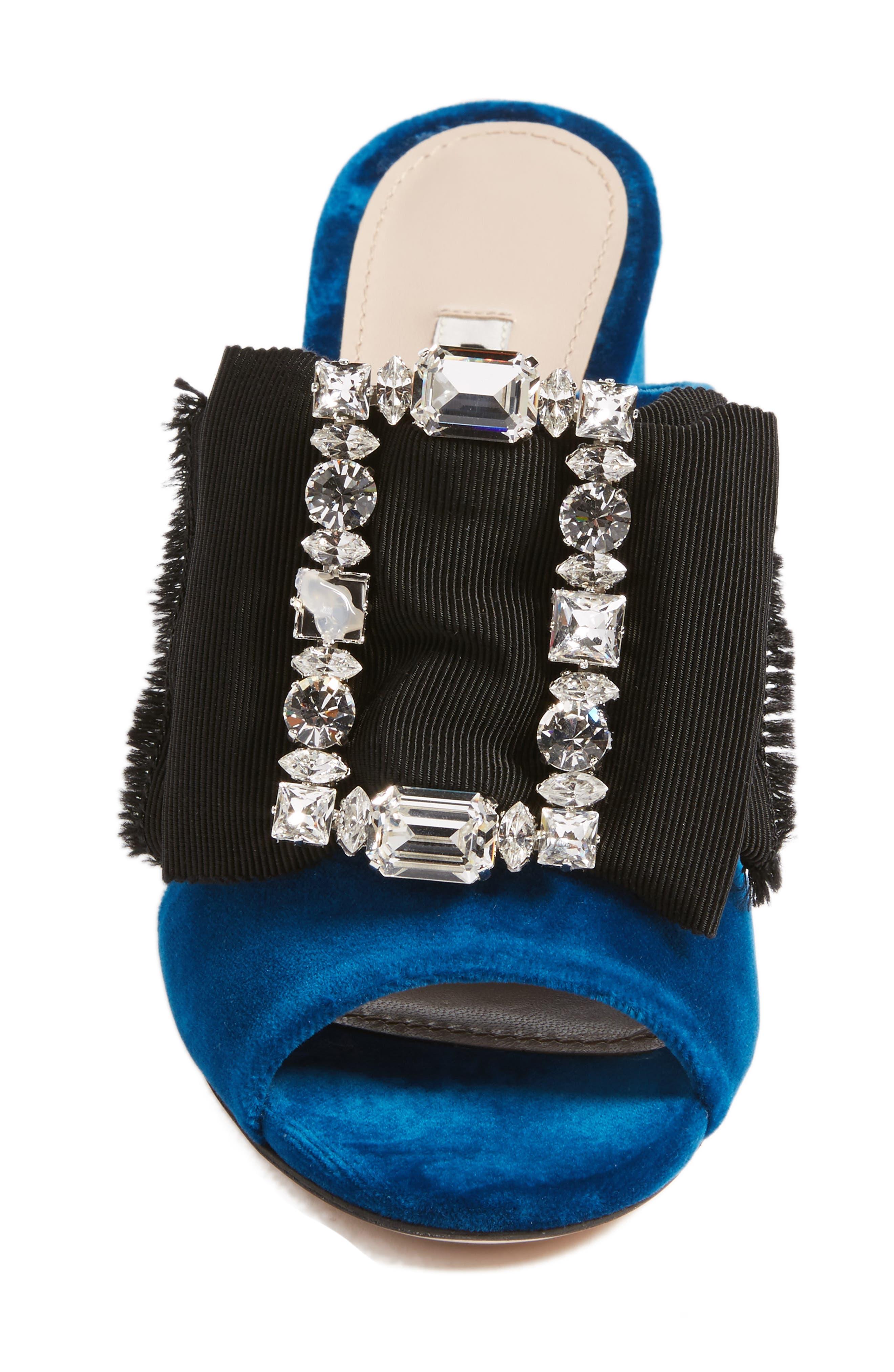 Embellished Sandal,                             Alternate thumbnail 4, color,                             Blue