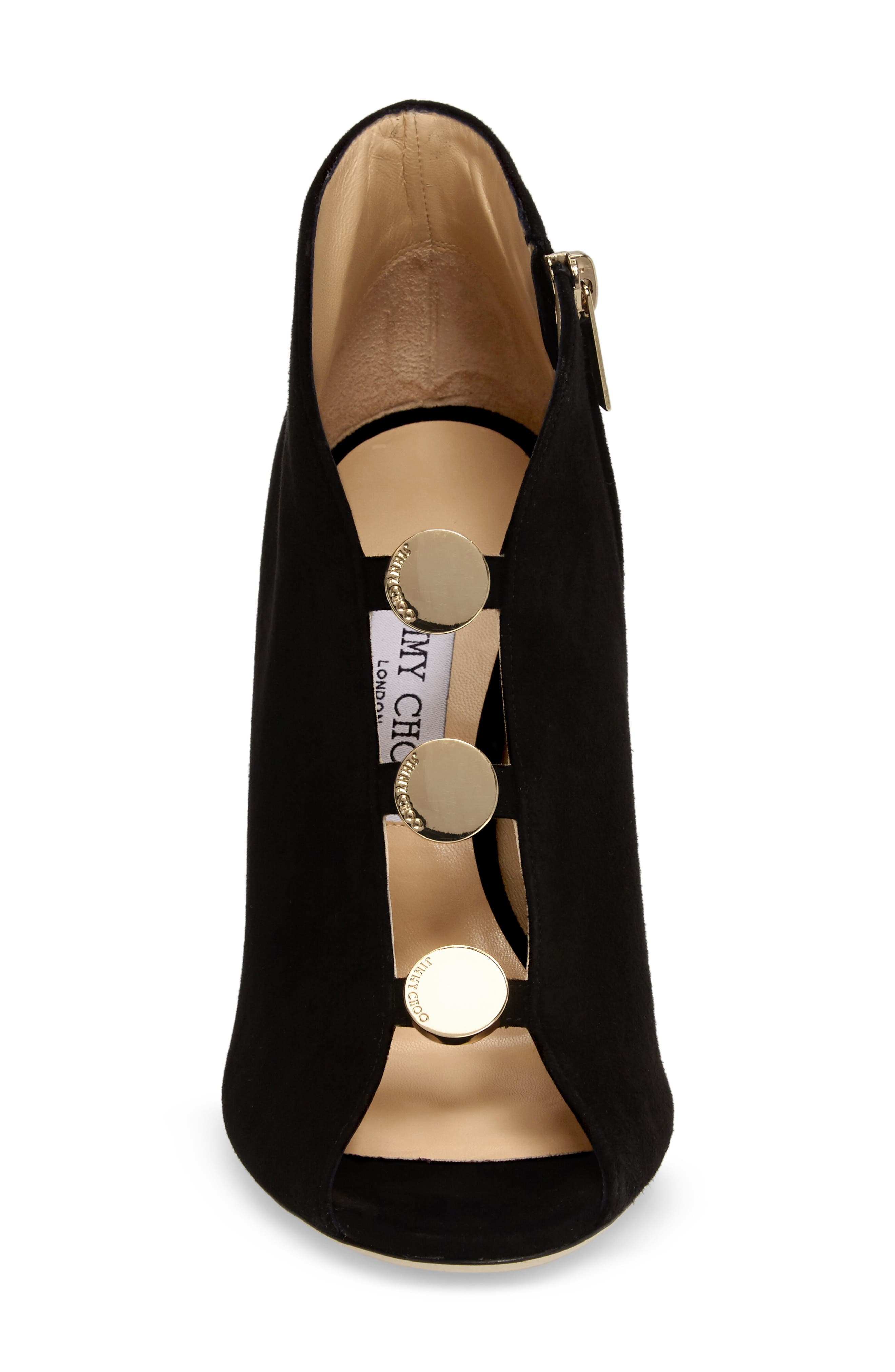 Alternate Image 4  - Jimmy Choo Lorna Button Open-Toe Bootie