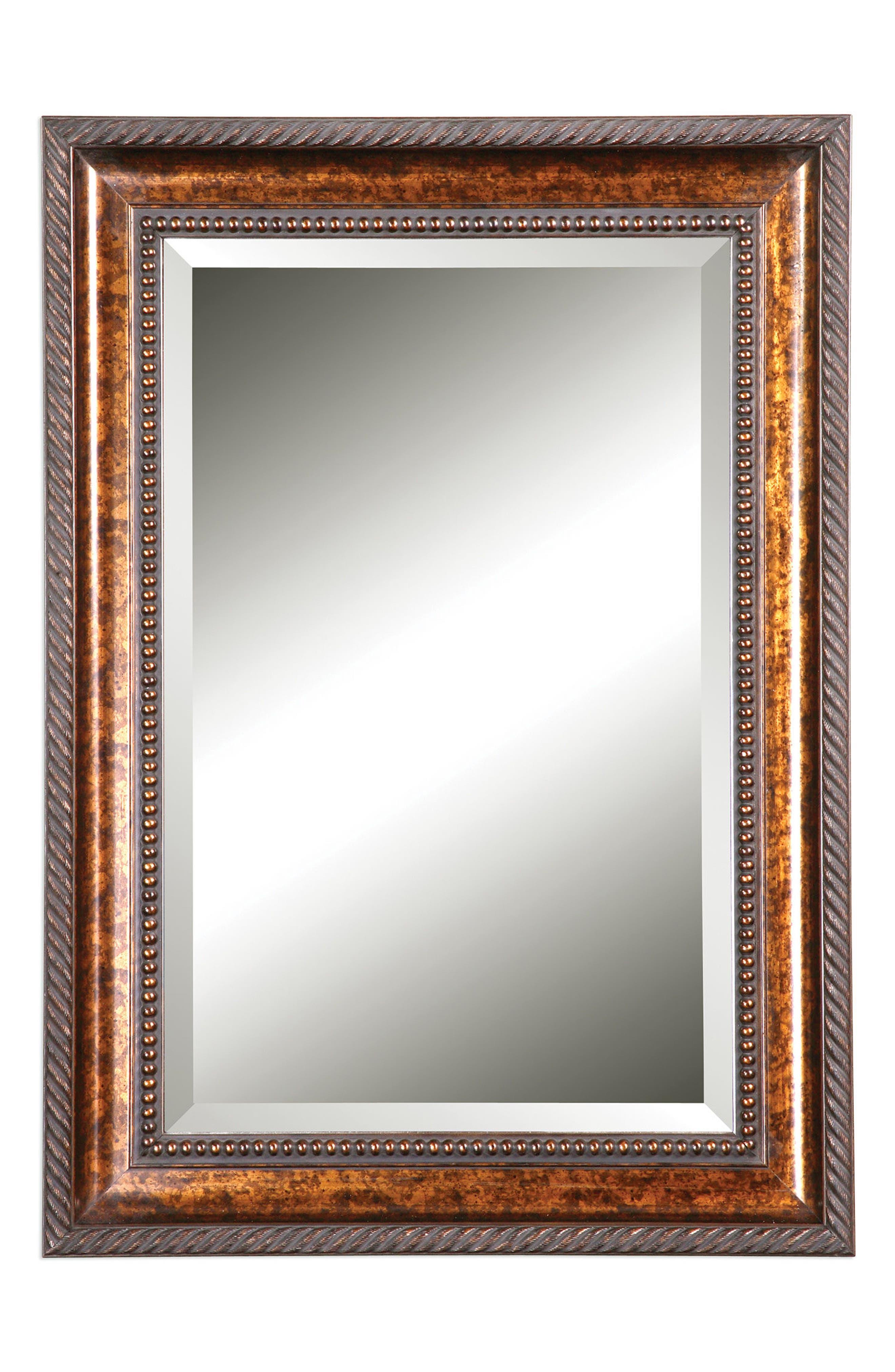 Sinatra Vanity Mirror,                         Main,                         color, Metallic Gold