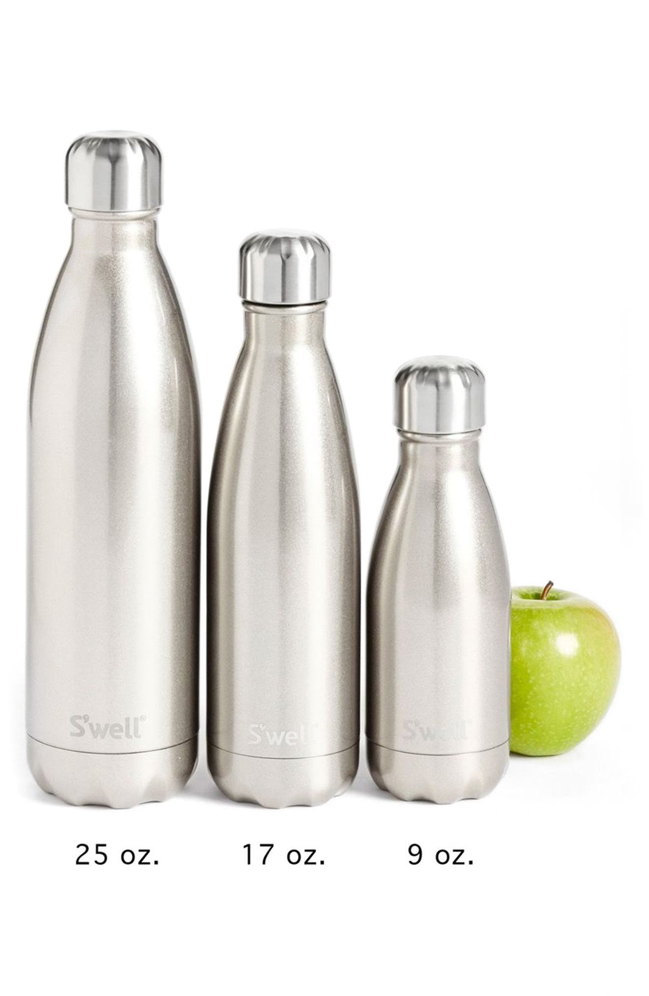Alternate Image 3  - S'well 'Metallic Collection - White Gold' Stainless Steel Water Bottle