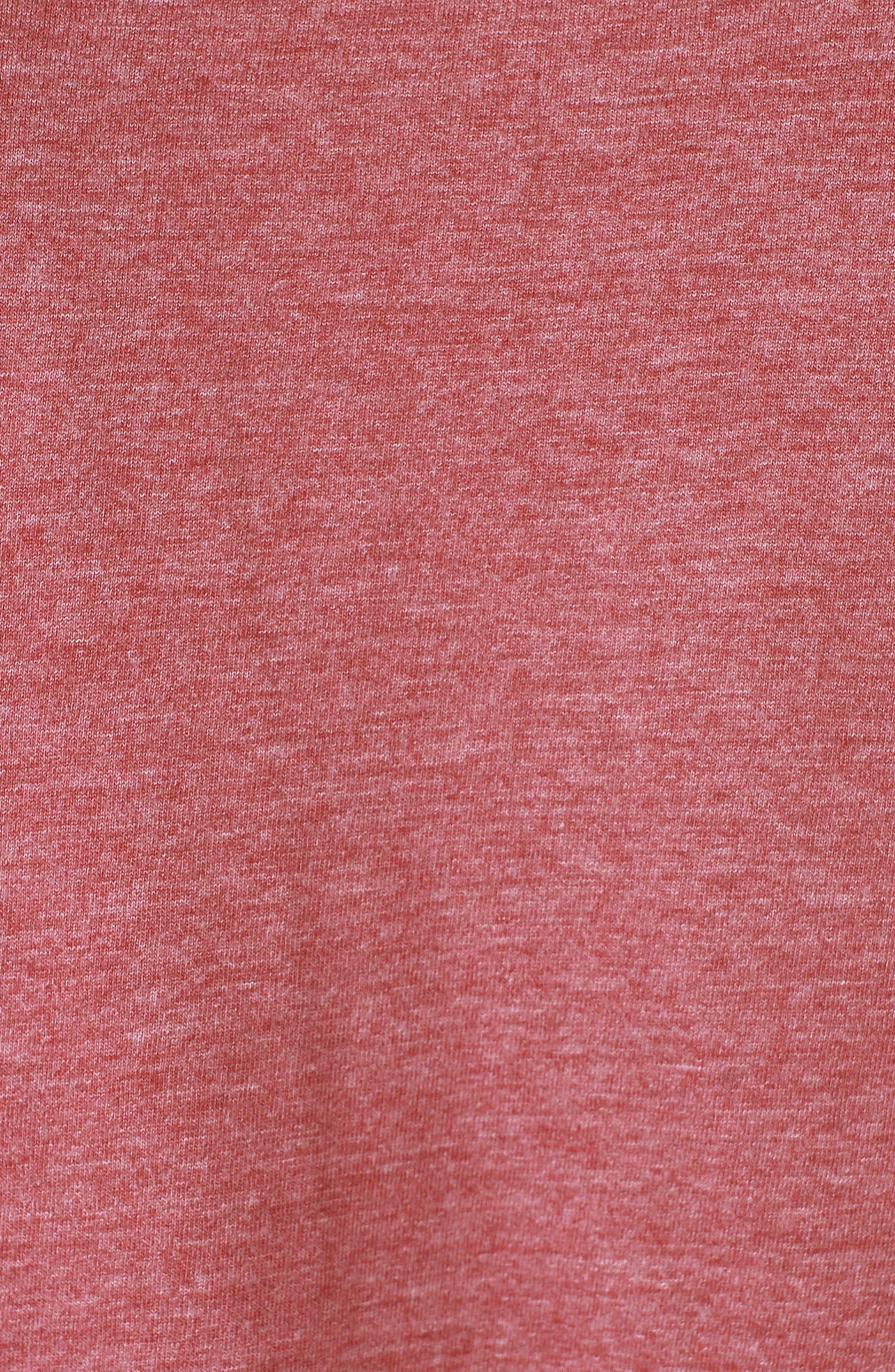 Nelson Pocket T-Shirt,                             Alternate thumbnail 5, color,                             Oxblood/ Charcoal