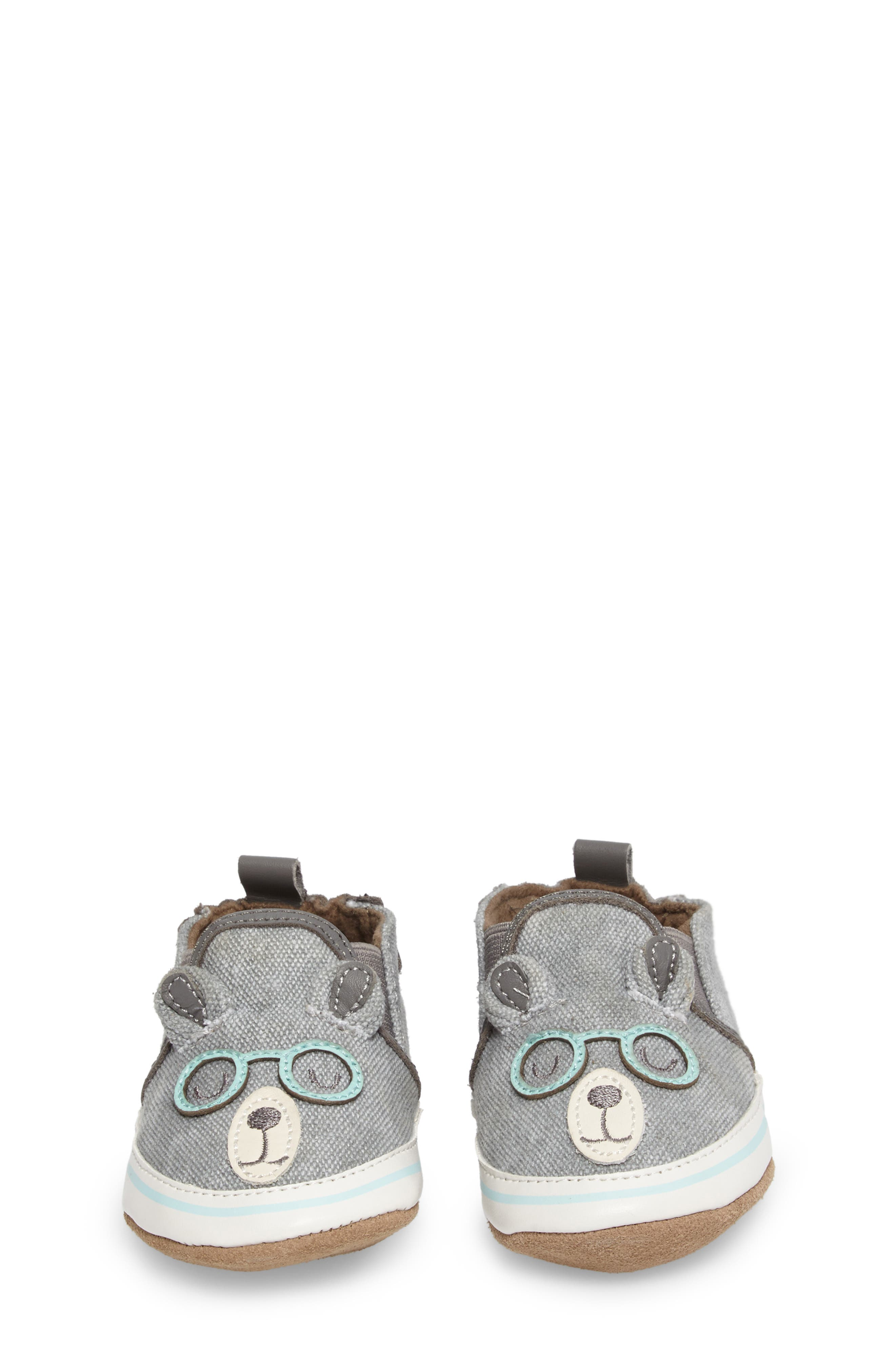 Alternate Image 4  - Robeez® 'Brainy Bear' Crib Shoe (Baby & Walker)
