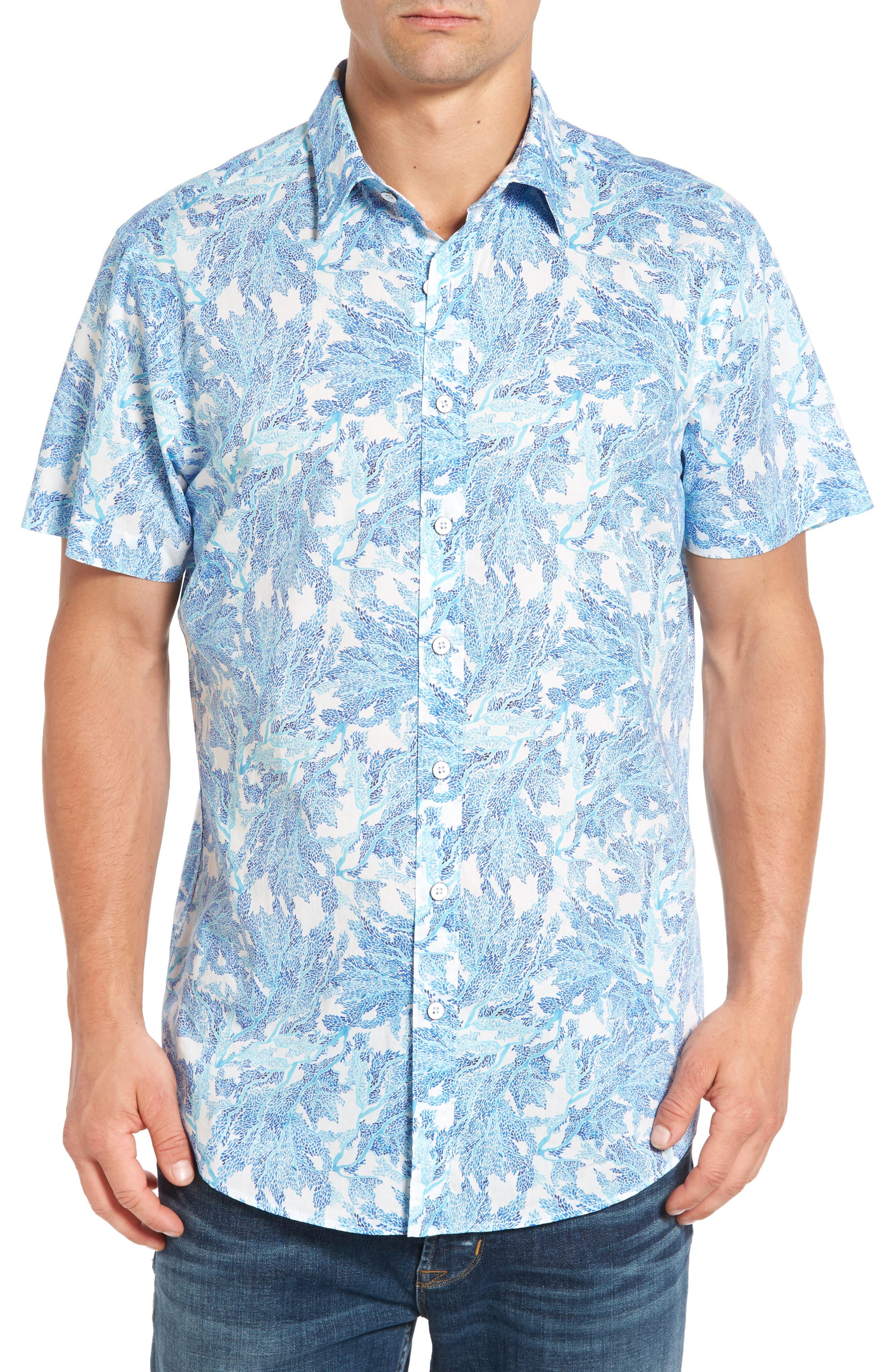 RODD & GUNN Makarora Regular Fit Print Sport Shirt