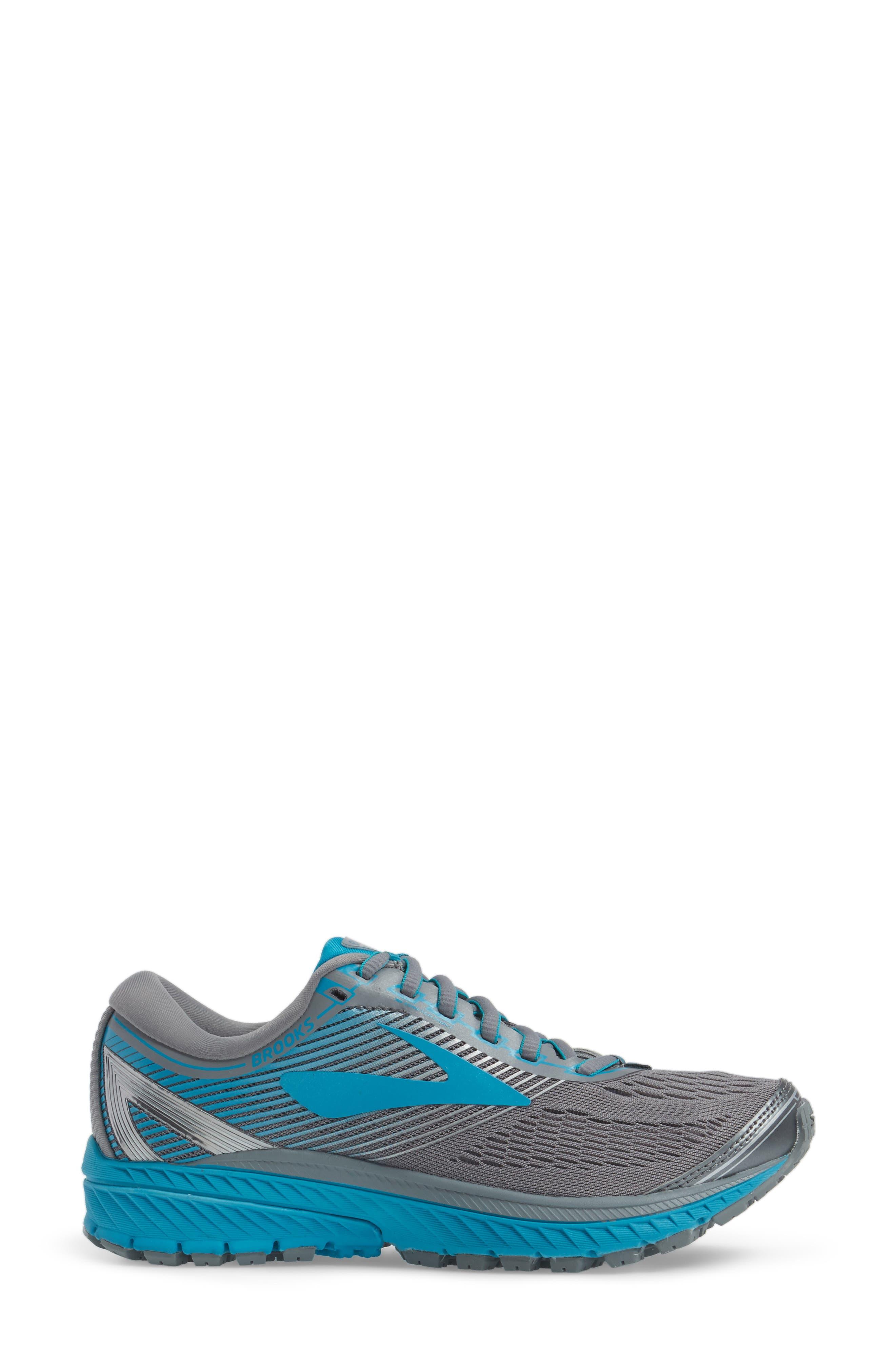 Ghost 10 Running Shoe,                             Alternate thumbnail 3, color,                             Primer Grey/ Teal/ Silver
