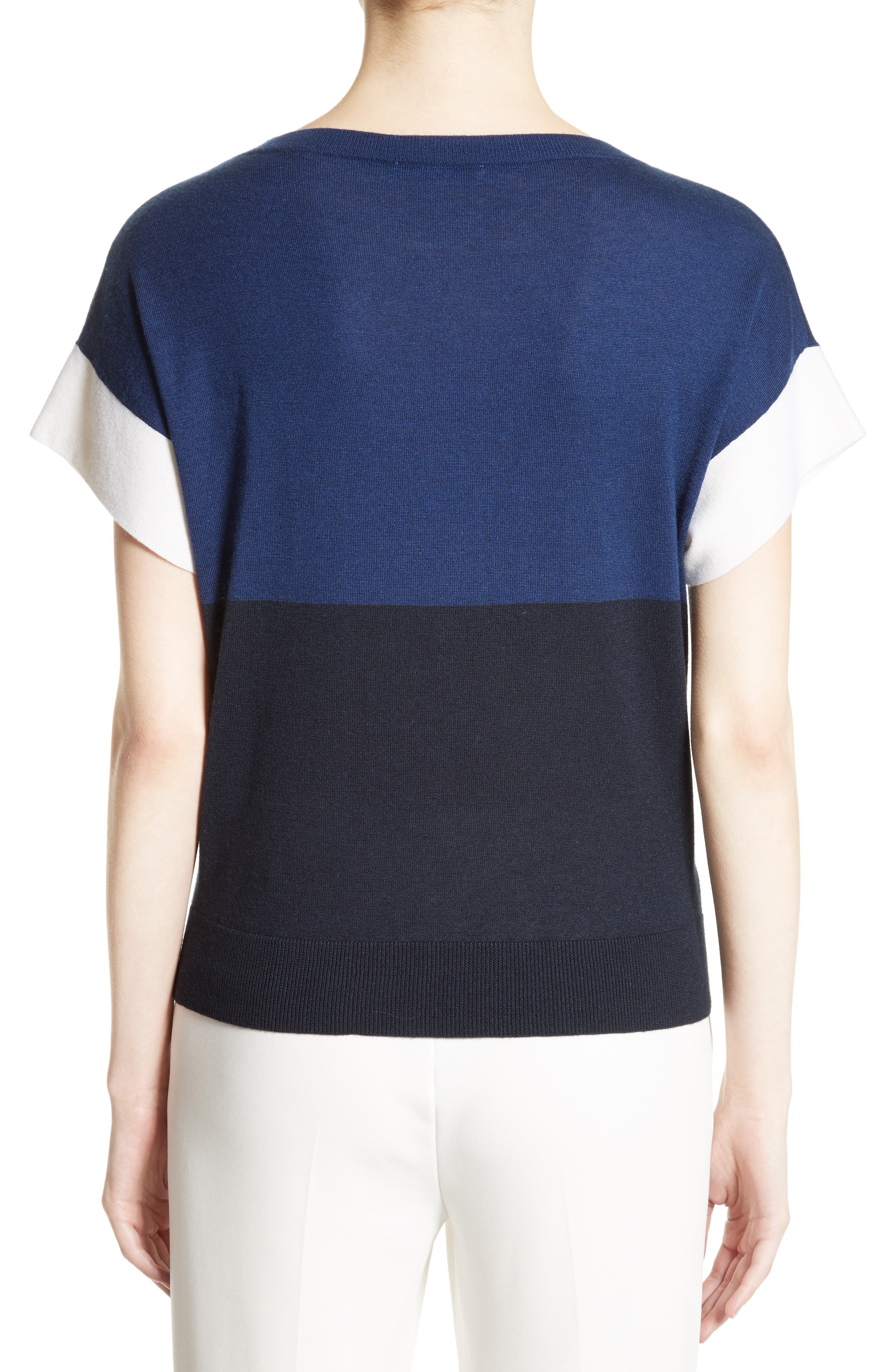 Colimbo Silk & Cashmere Top,                             Alternate thumbnail 2, color,                             Ultra Marine