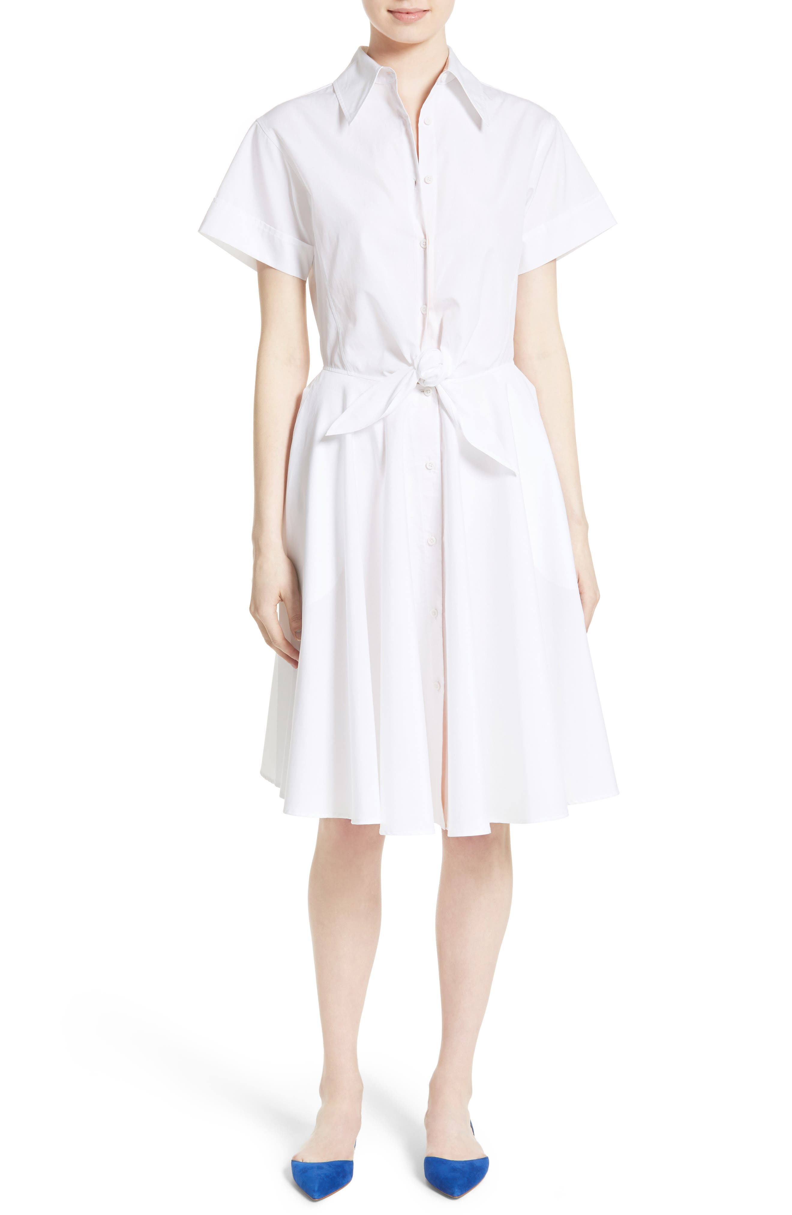 Alternate Image 1 Selected - Diane von Furstenberg Cotton Shirtdress