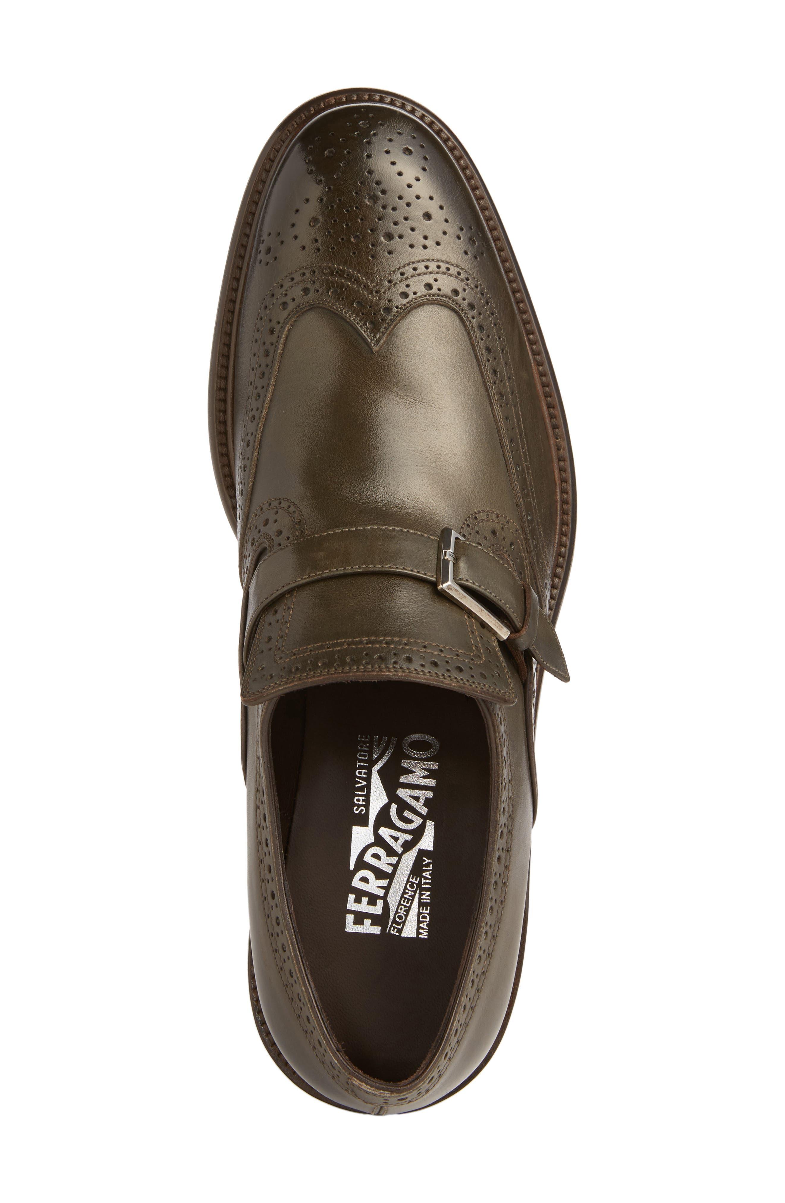 Alternate Image 5  - Salvatore Ferragamo Monk Strap Shoe (Men)