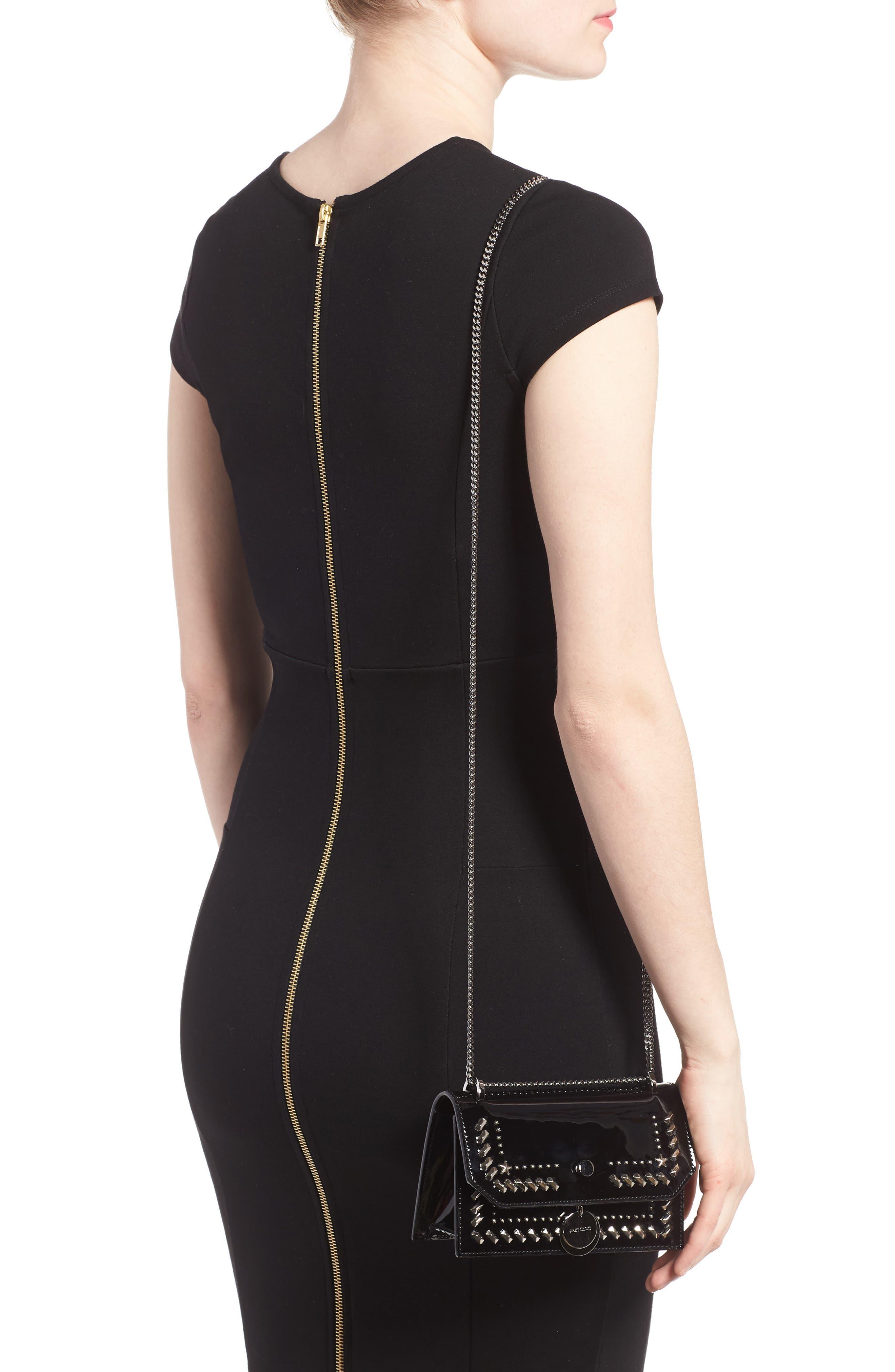 Finley Studded Leather Shoulder Bag,                             Alternate thumbnail 2, color,                             Black