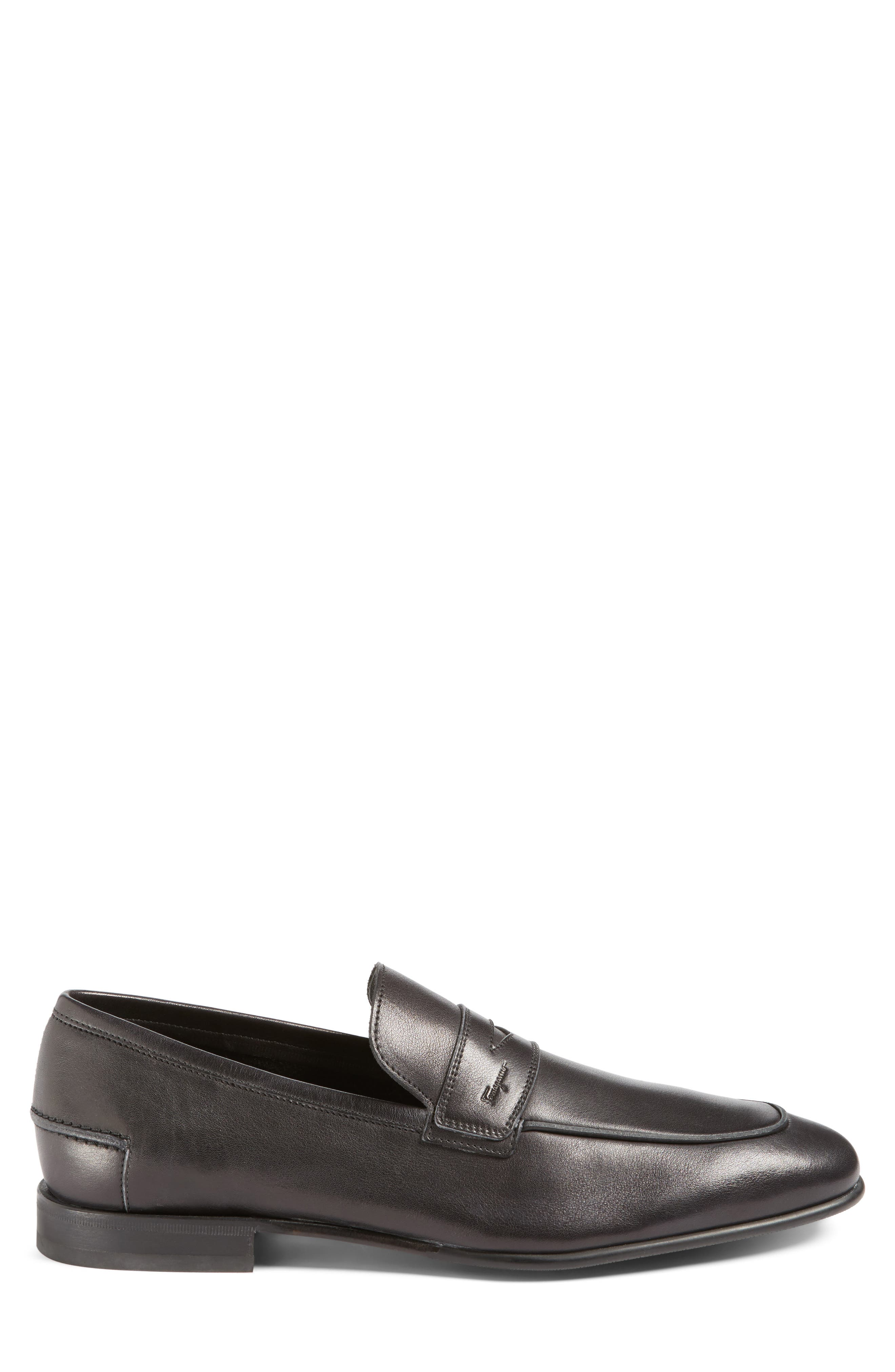 Duchamp Penny Loafer,                             Alternate thumbnail 3, color,                             Nero Leather