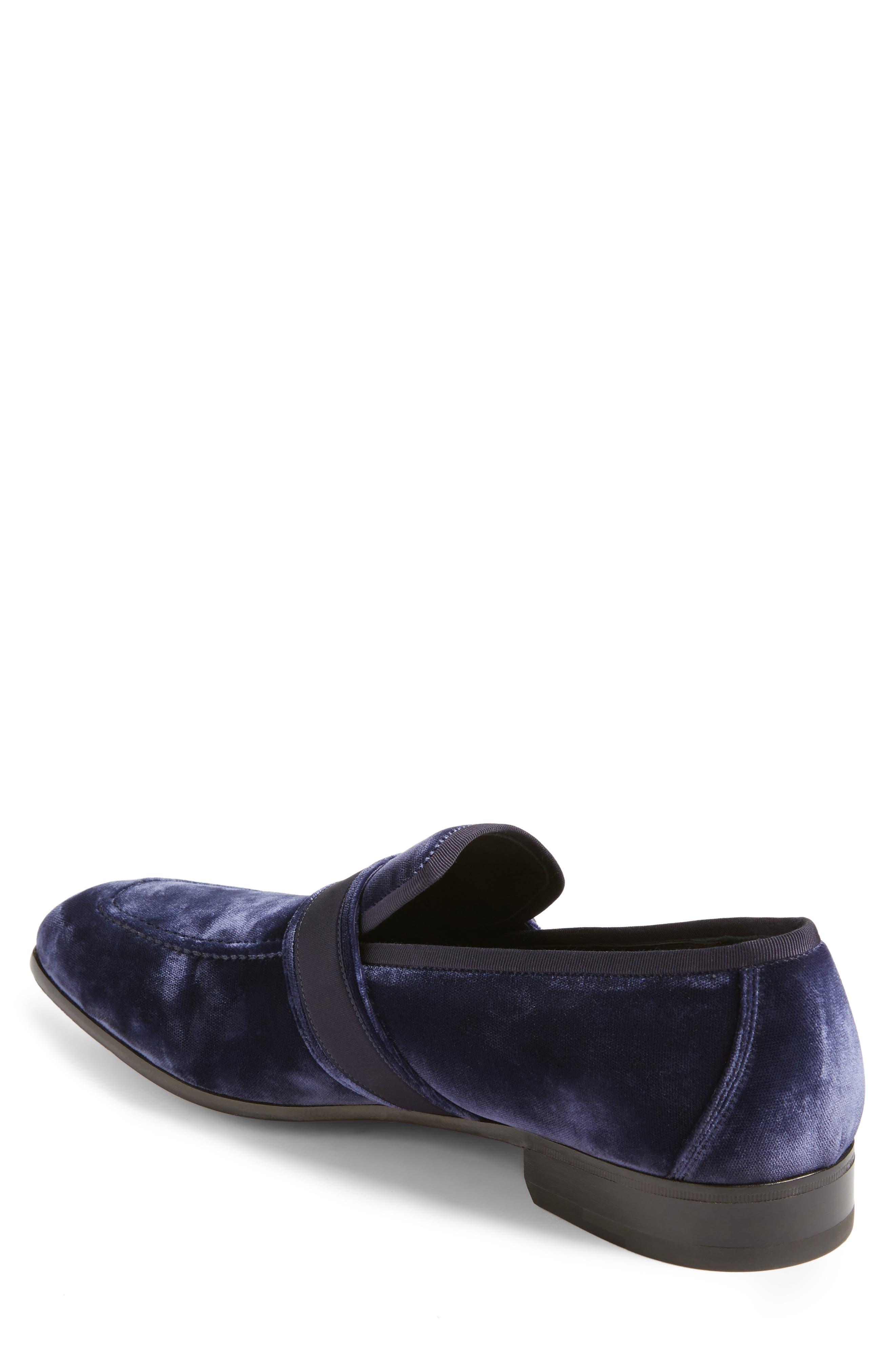 Danny 2 Bit Loafer,                             Alternate thumbnail 2, color,                             Blue Marine Velvet
