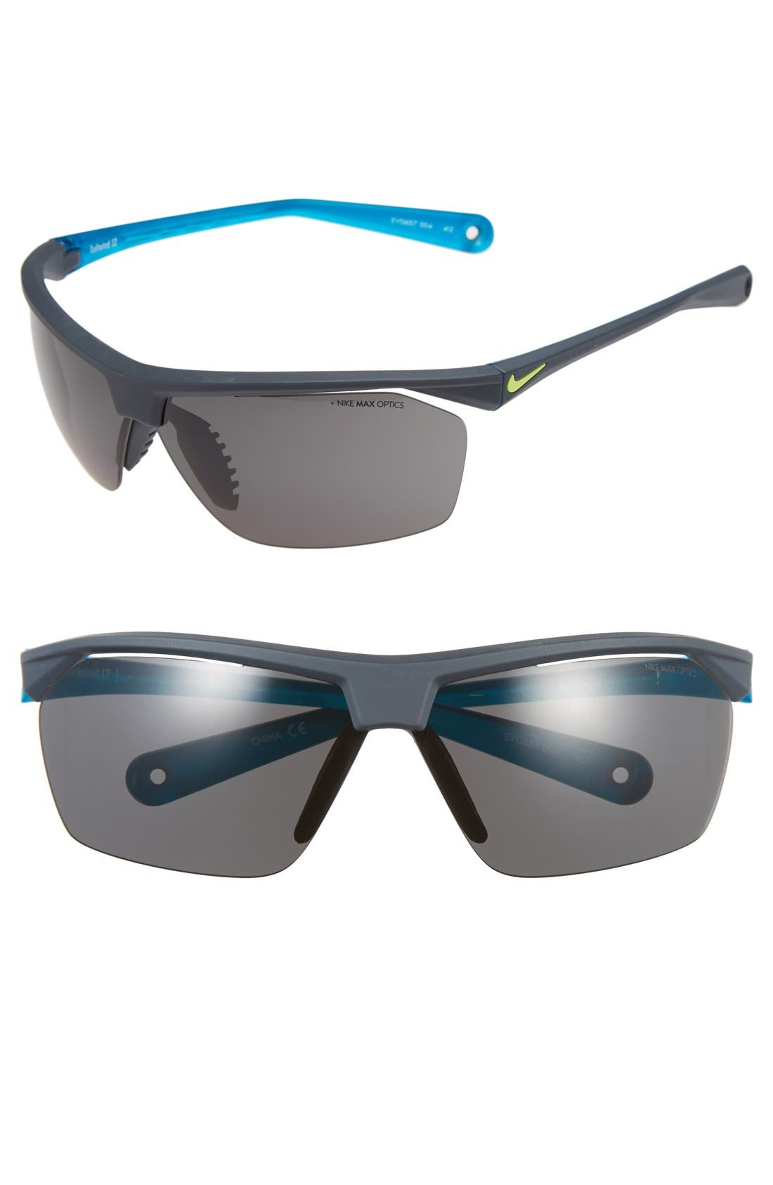 Main Image - Nike 'Tailwind' 70mm Semi Rimless Sunglasses