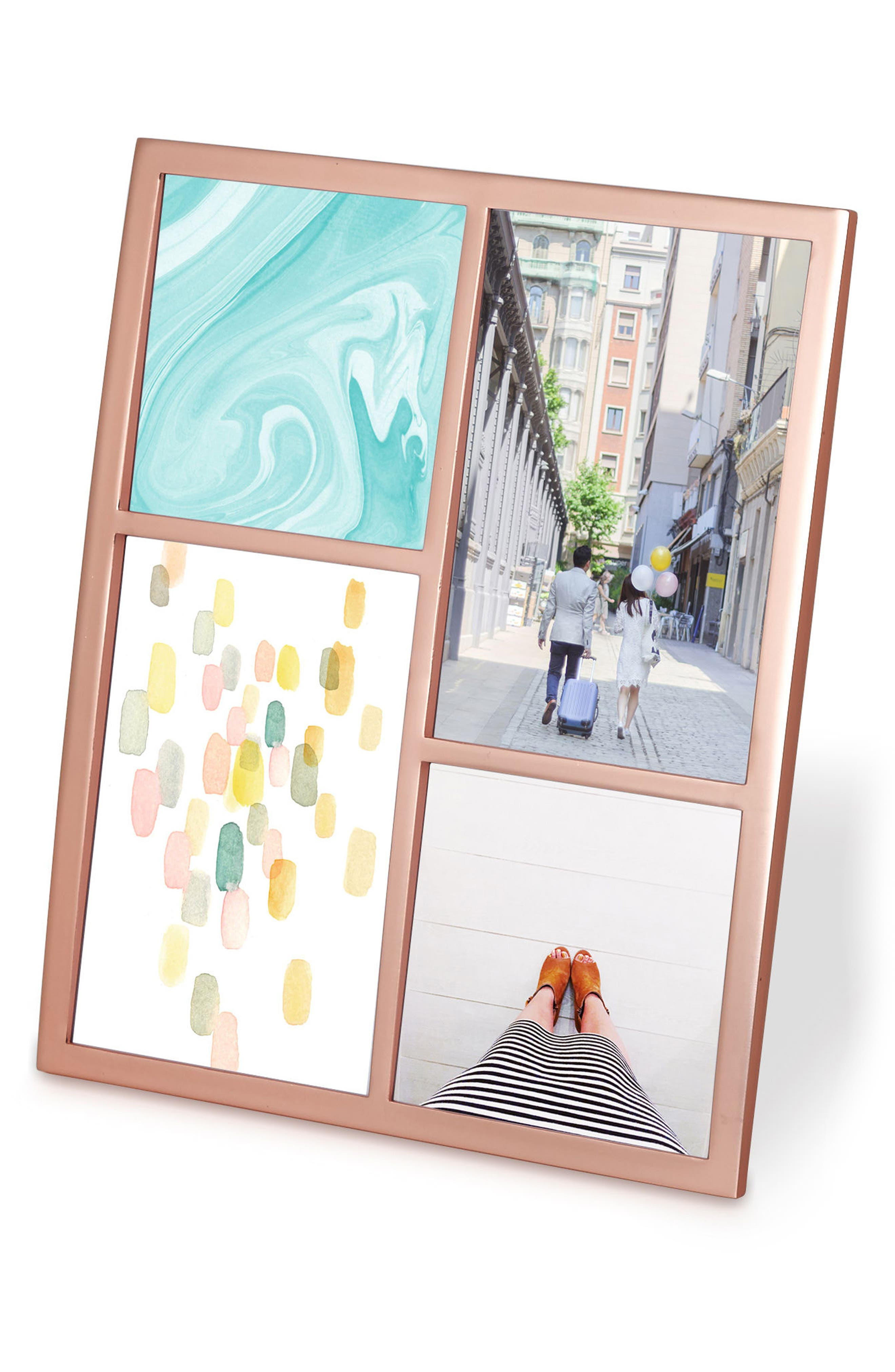 Senza Multi Display Picture Frame,                             Main thumbnail 1, color,                             Copper
