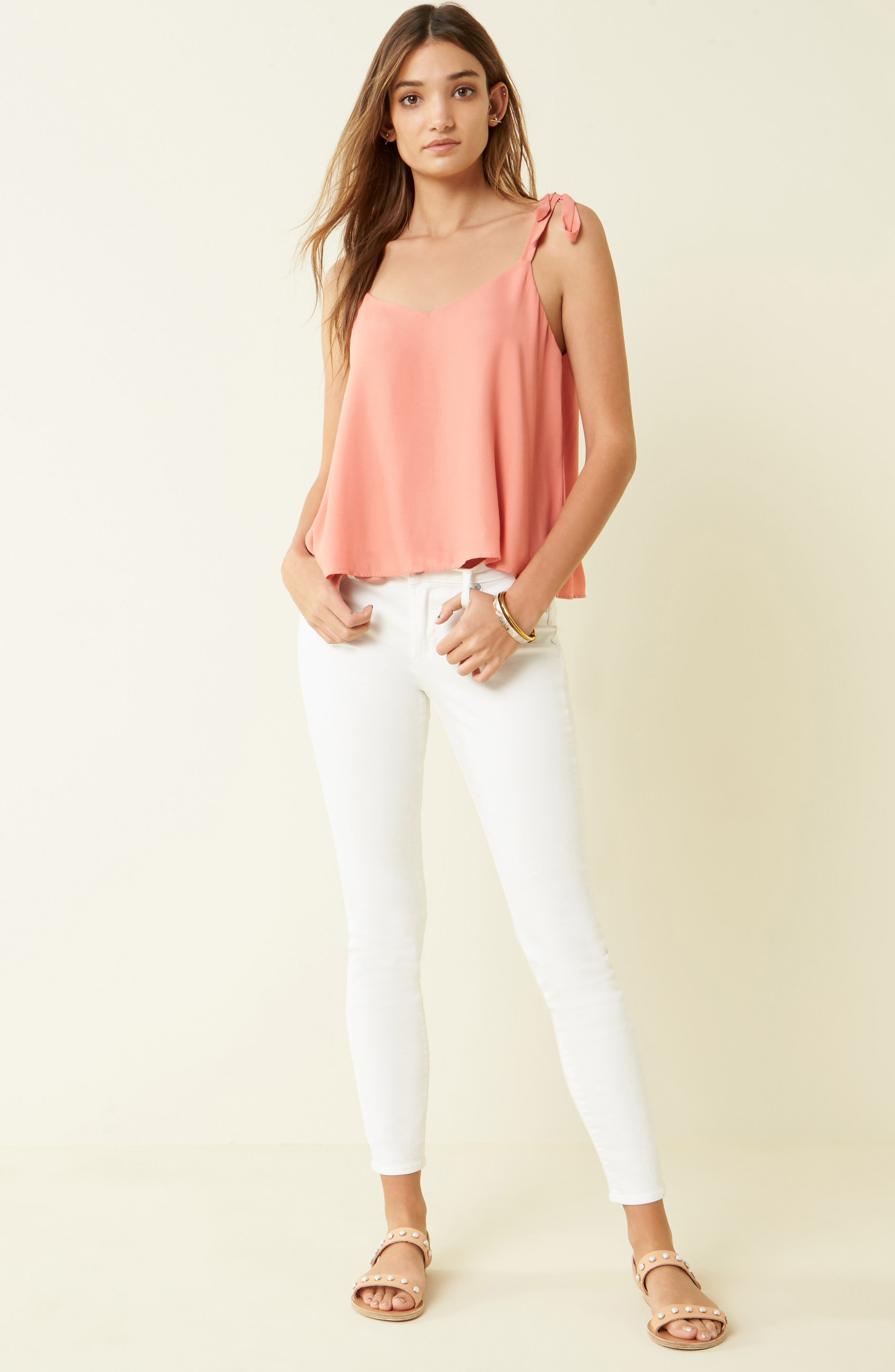Alternate Image 2  - Articles of Society Sarah Skinny Jeans (Clear White)