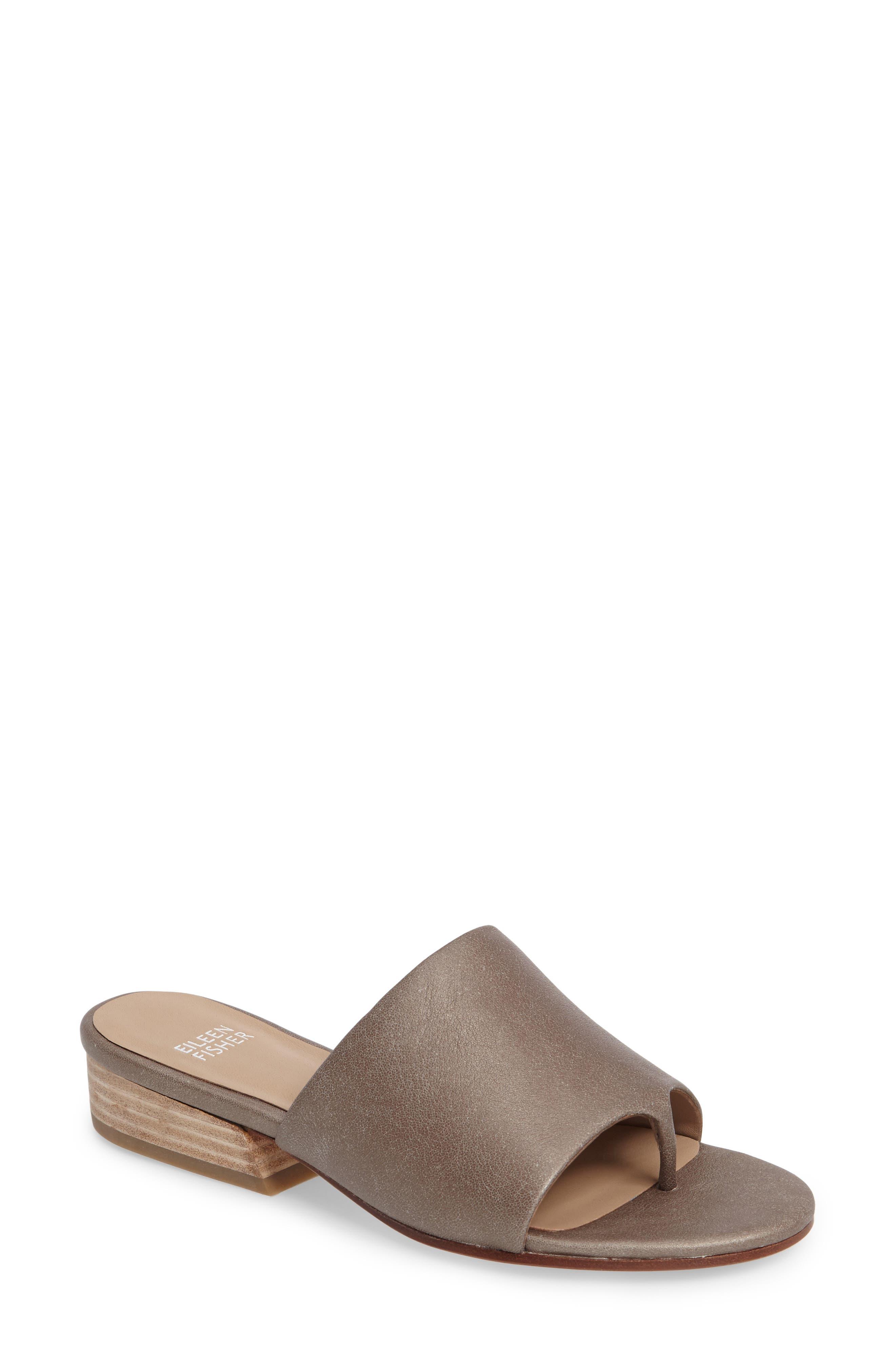Beal Slide Sandal,                         Main,                         color, Pyrite Leather