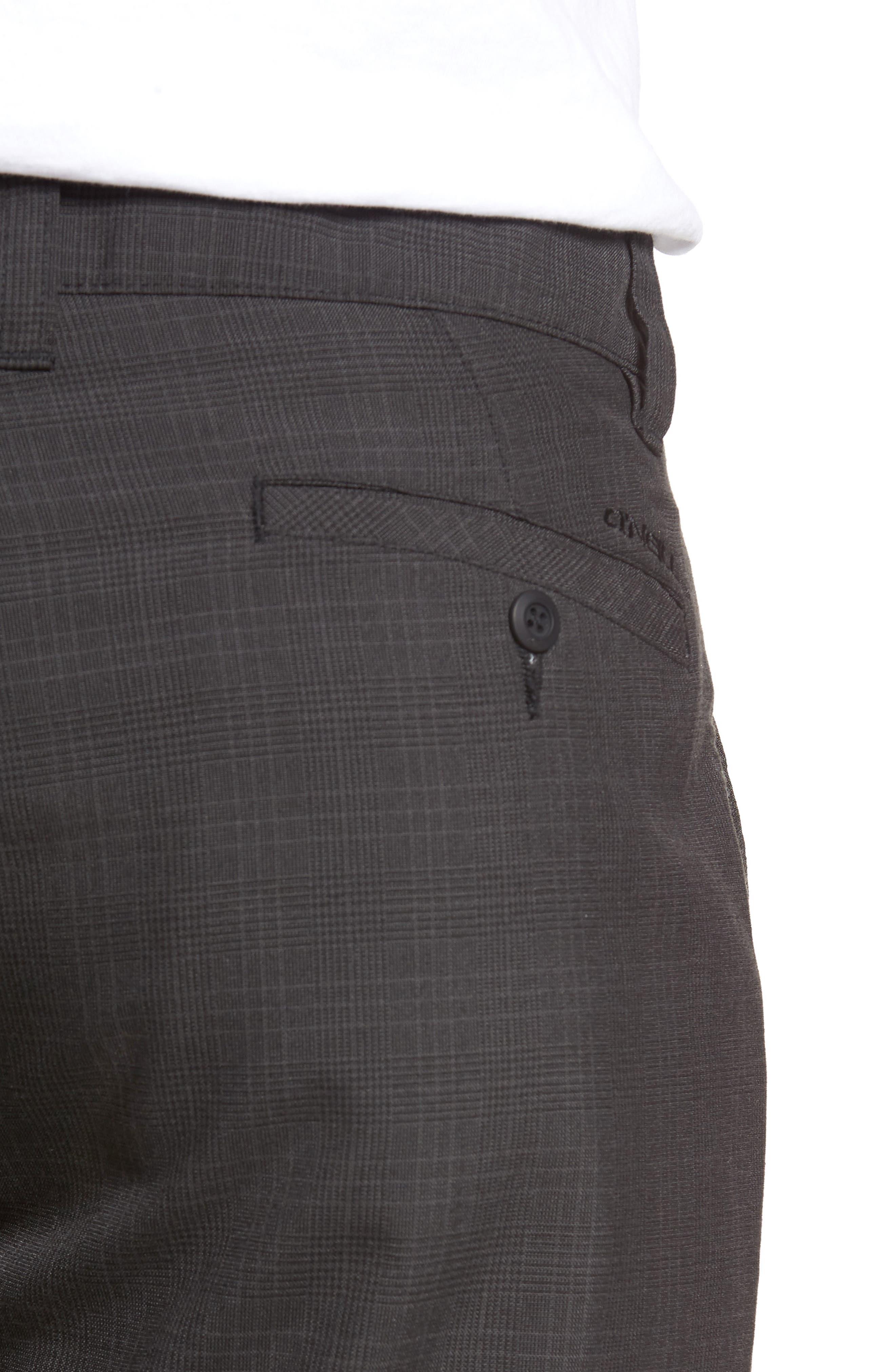 Delta Glen Plaid Shorts,                             Alternate thumbnail 4, color,                             Black