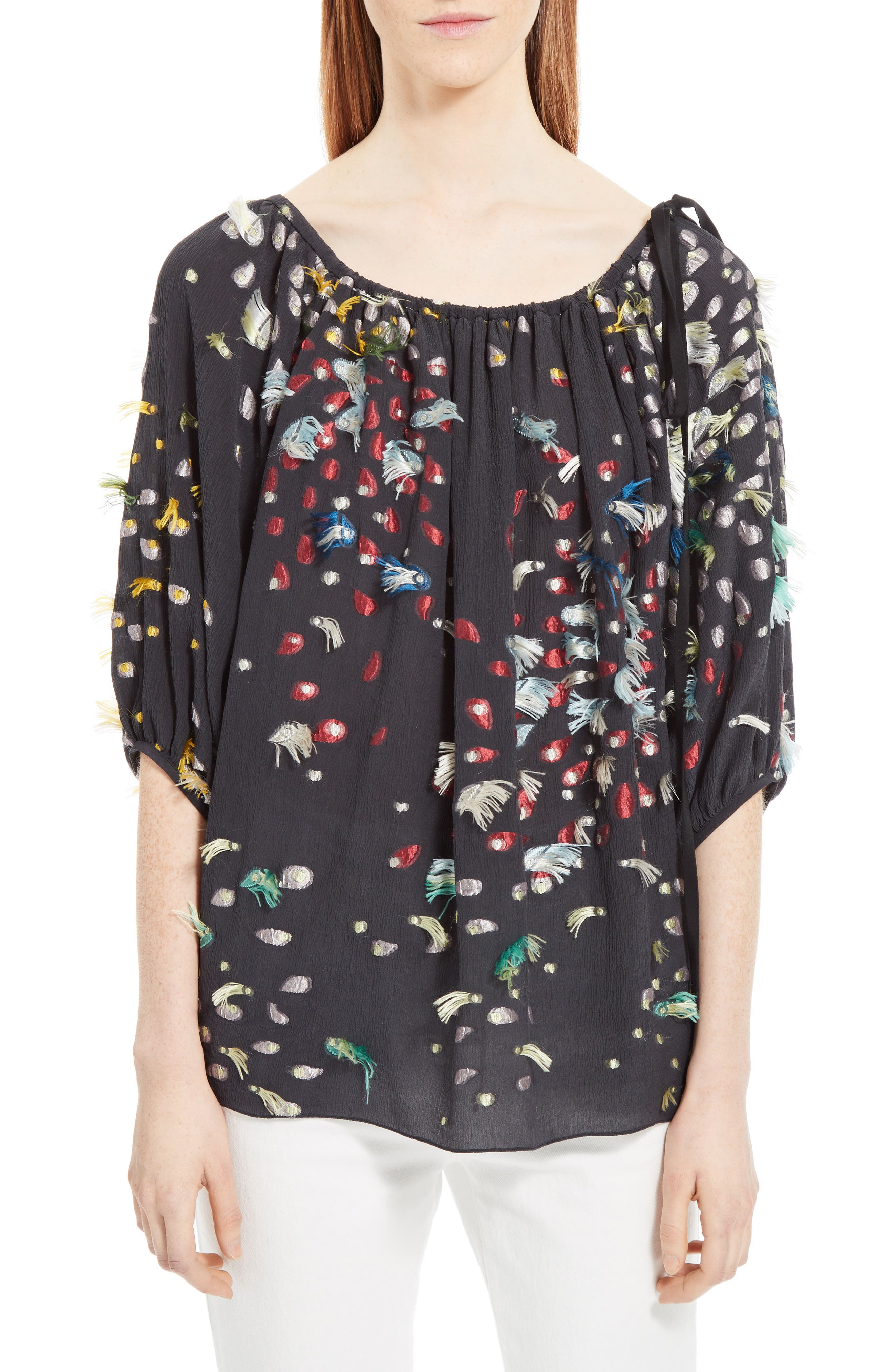 Chloé Firework Silk Fil Coupé Top