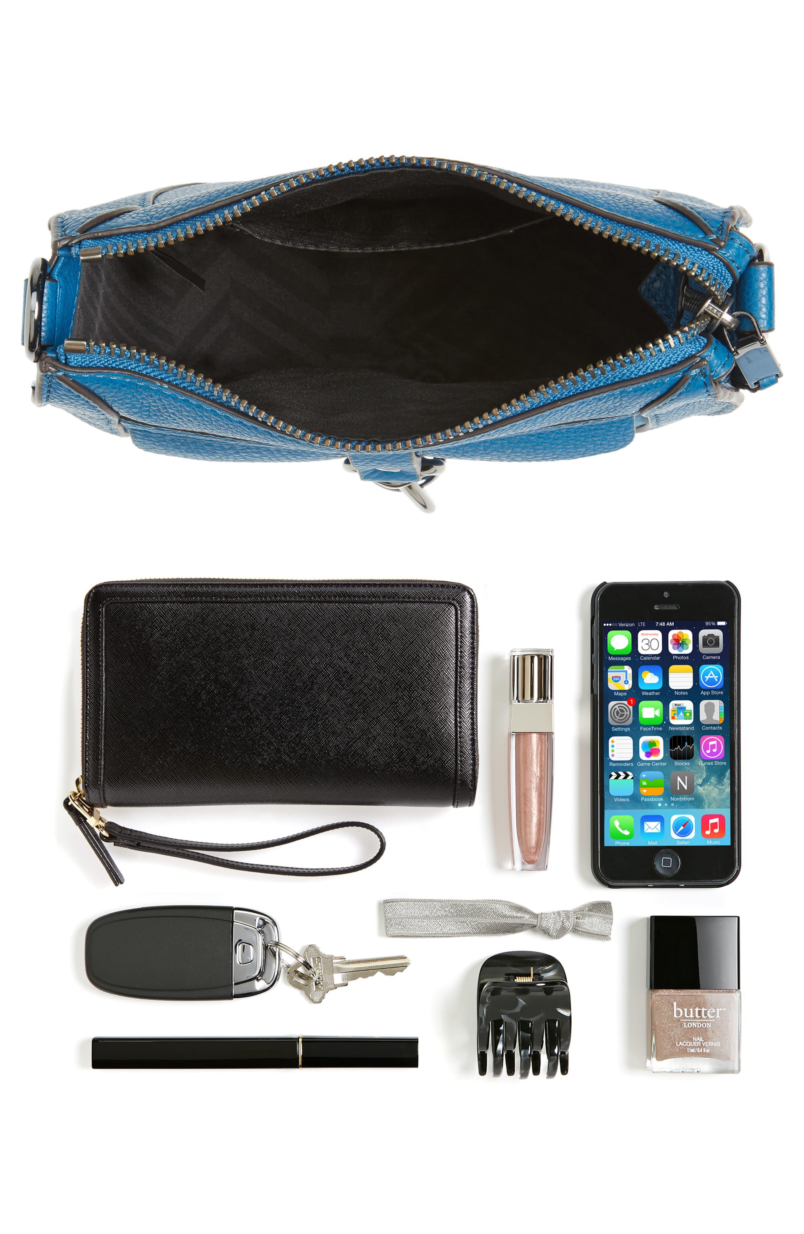Alternate Image 7  - Rebecca Minkoff Dog Clip Leather & Suede Saddle Bag (Nordstrom Exclusive)