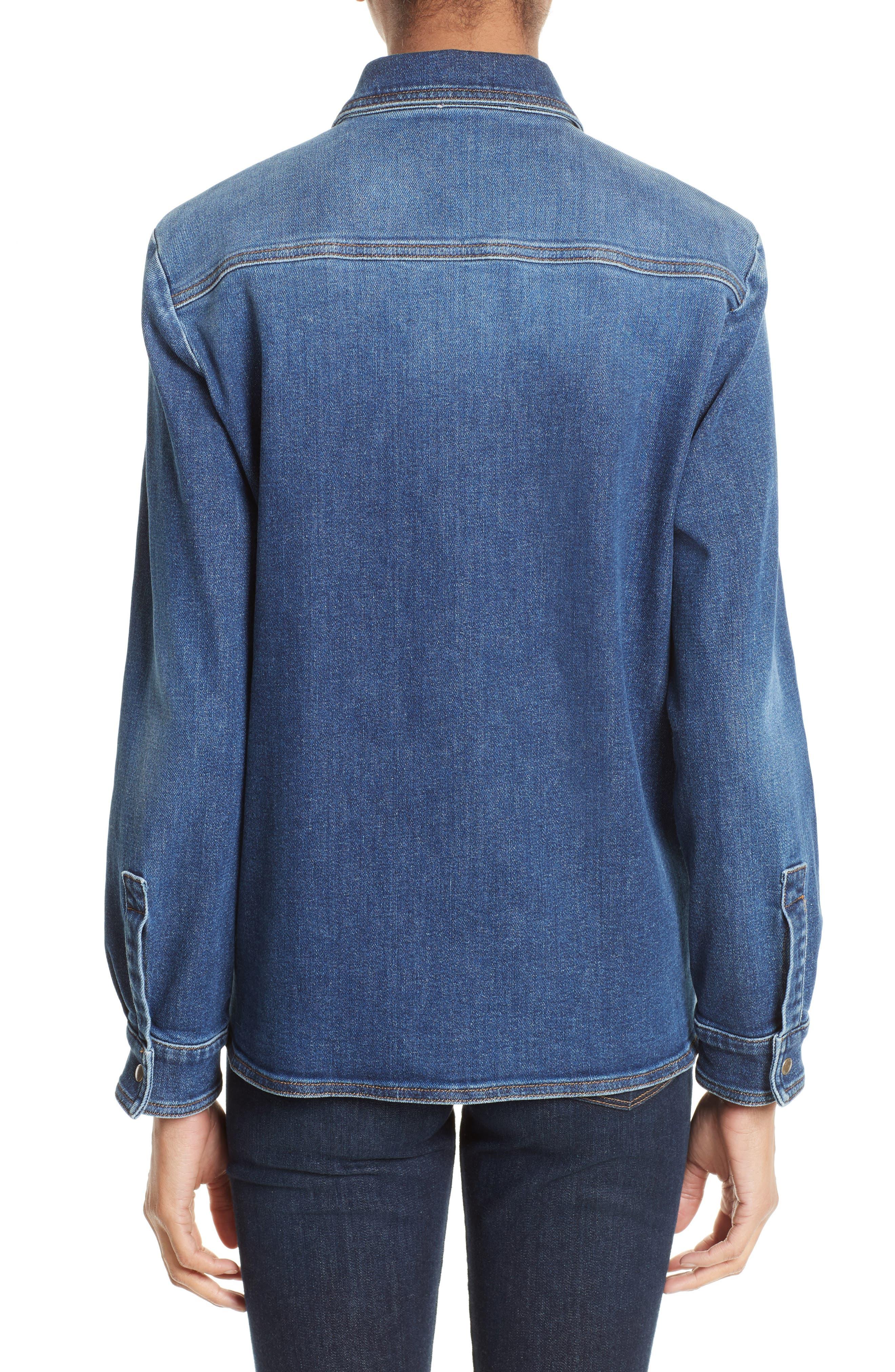 Alternate Image 2  - RED Valentino Stone Washed Denim Jacket
