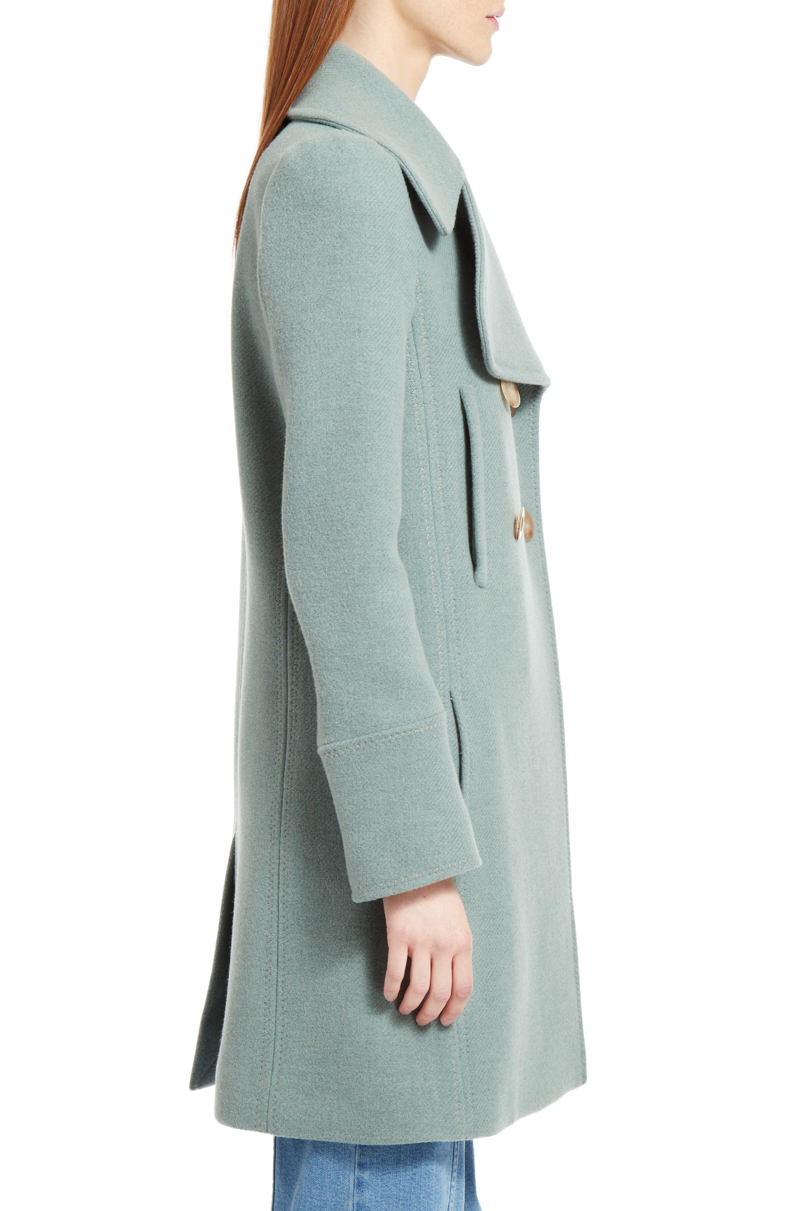 Alternate Image 4  - Chloé Iconic Wool Blend Coat