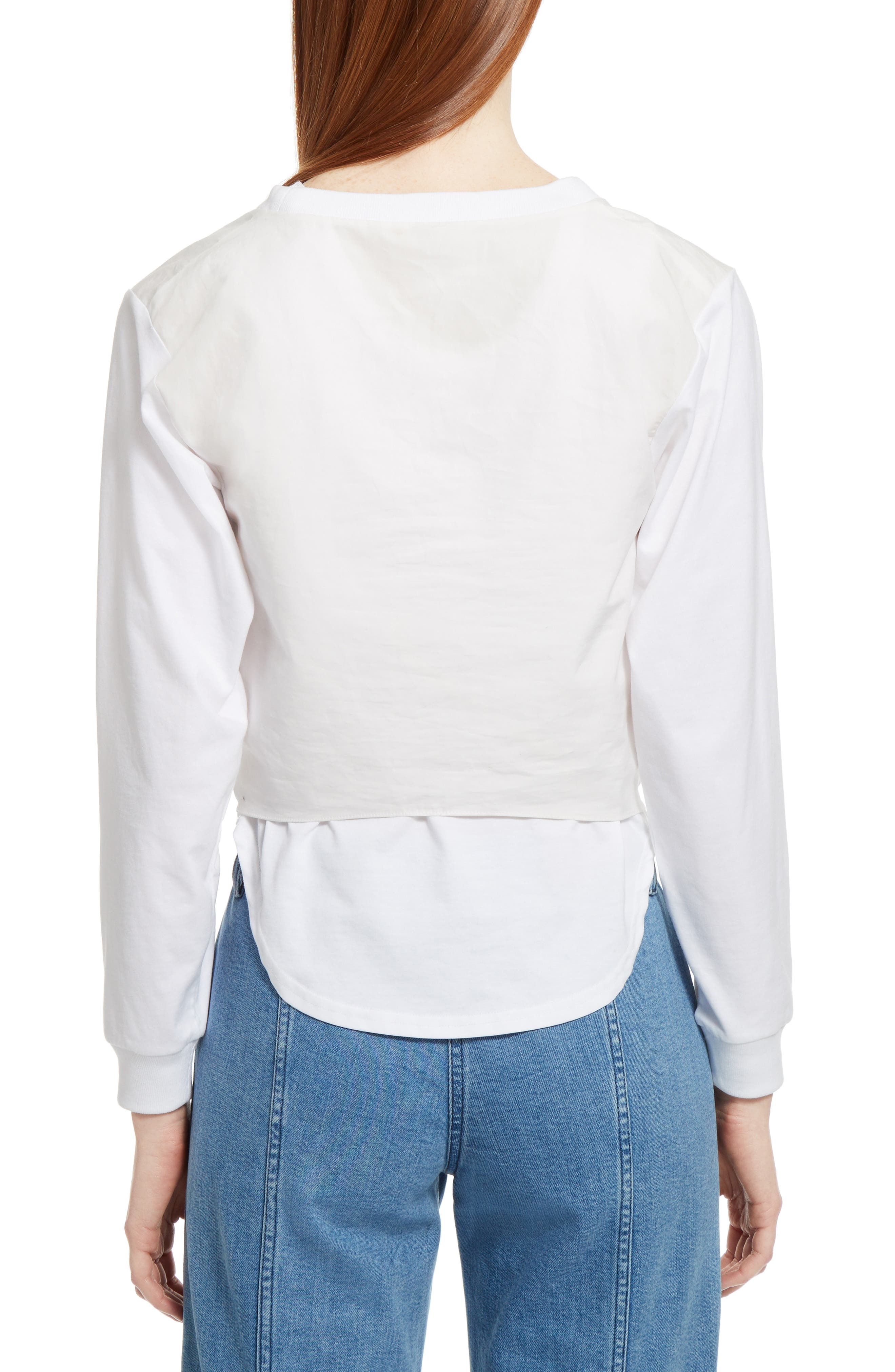 Alternate Image 2  - Chloé Layered Tie Front Top