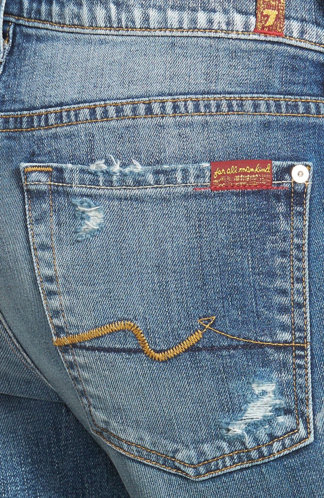 Alternate Image 3  - 7 For All Mankind® 'Josefina' Boyfriend Jeans (Red Cast Heritage Blue)