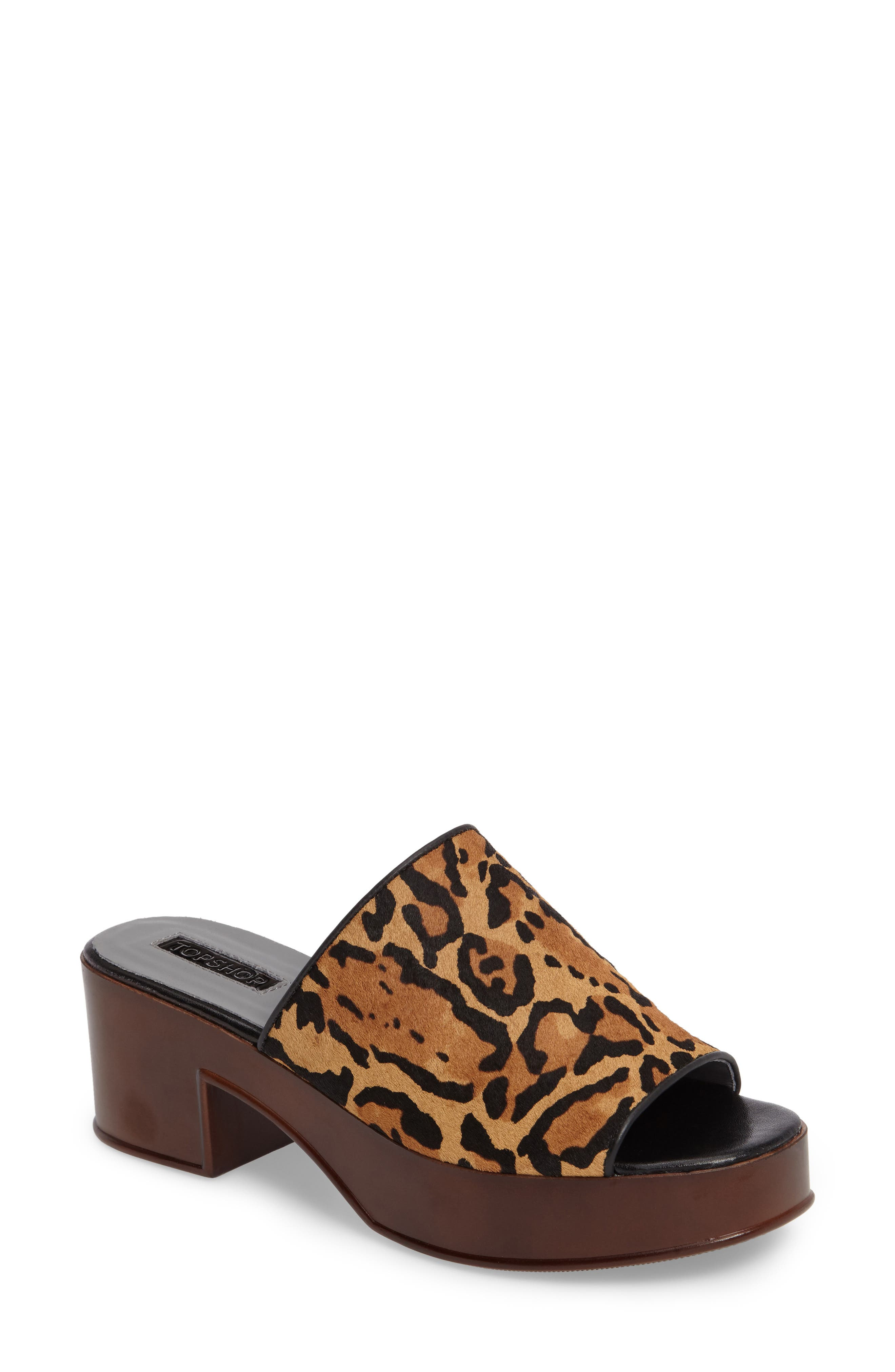 Topshop Villain Genuine Calf Hair Mule (Women)