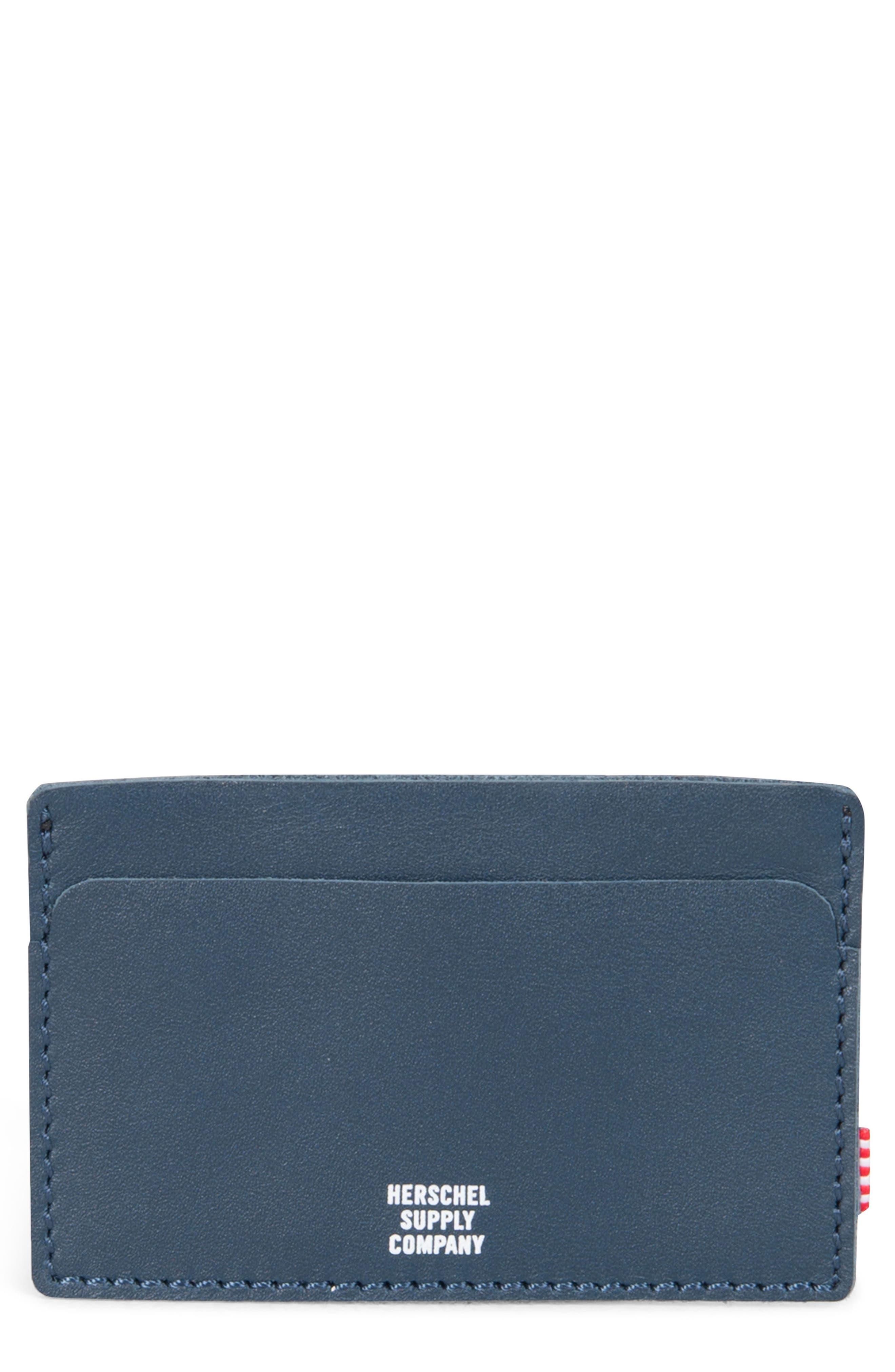 Felix Card Case,                         Main,                         color, Peacoat Leather