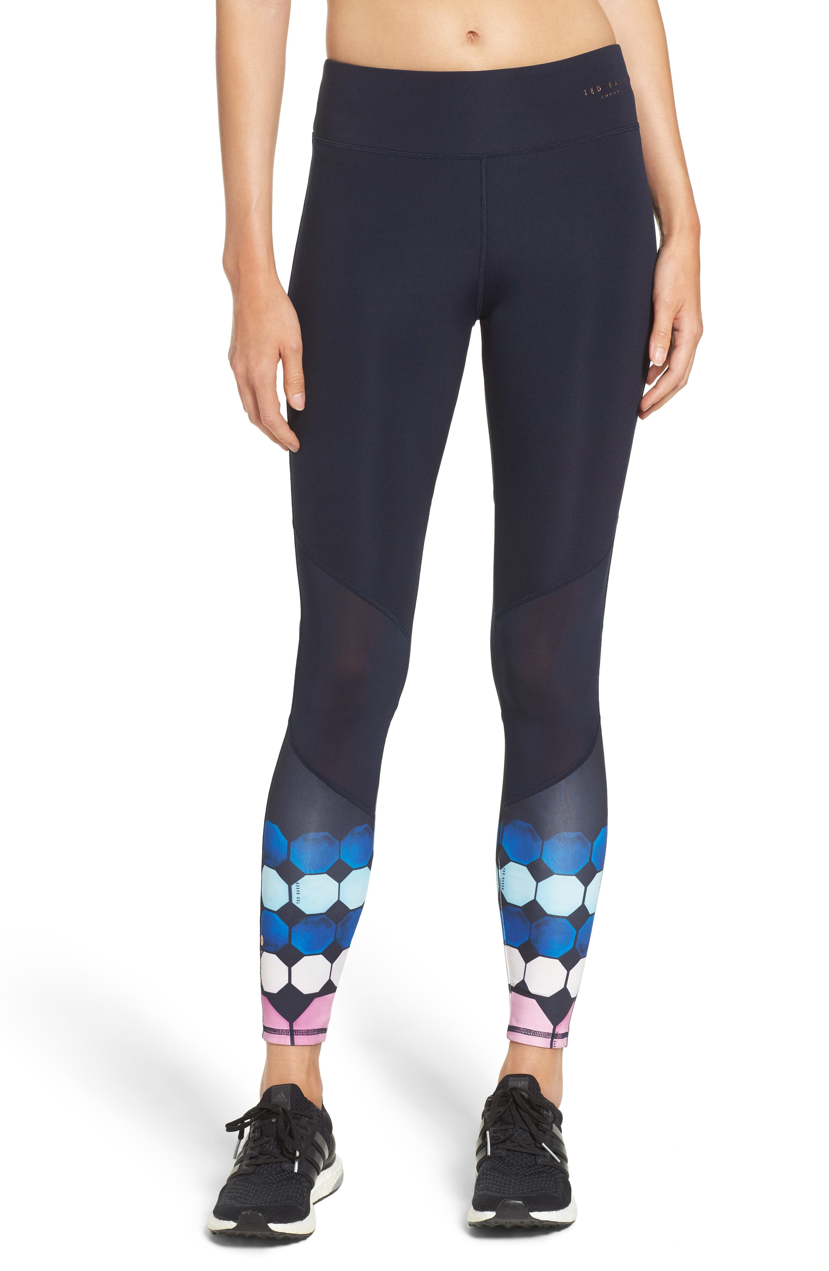 Marina Mosaic Leggings,                         Main,                         color, Navy
