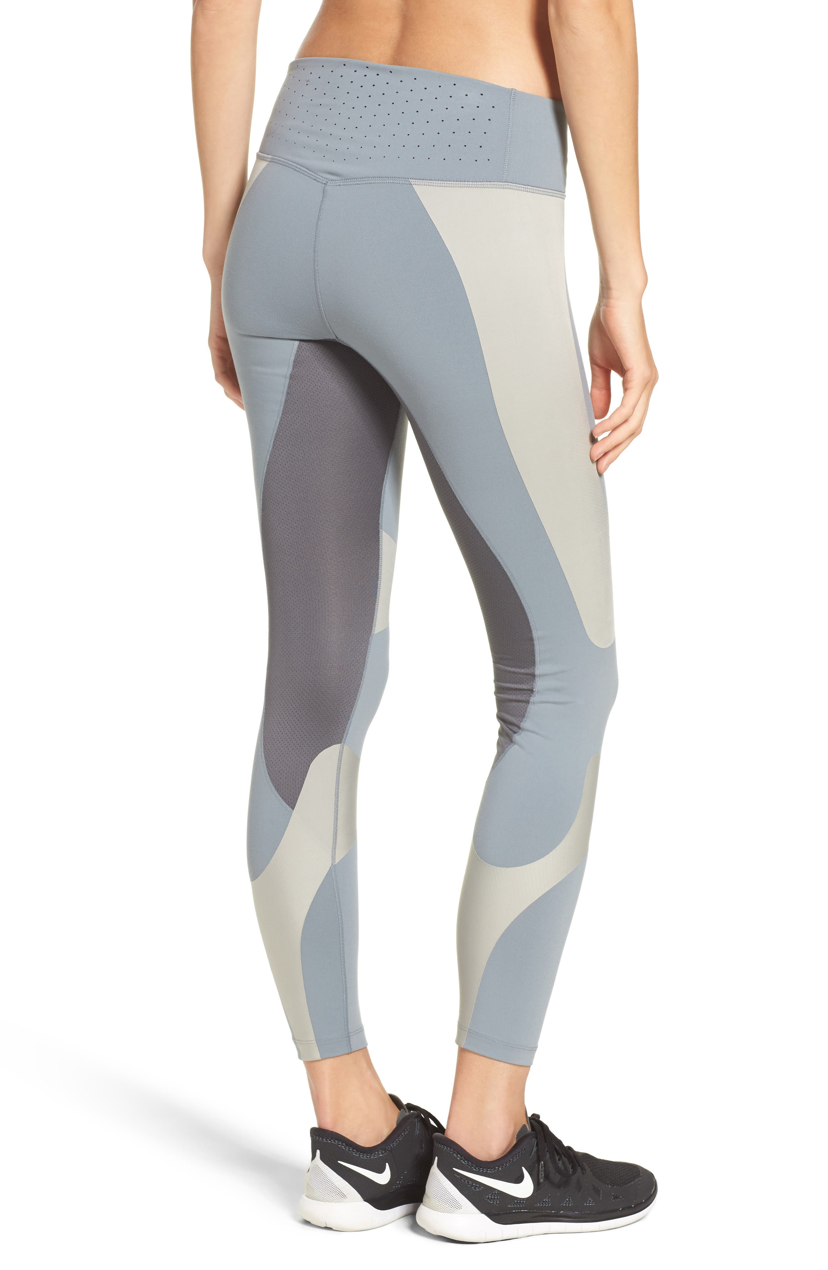Power Legend Training Tights,                             Alternate thumbnail 2, color,                             Grey/ Cobblestone/ Grey/ Black