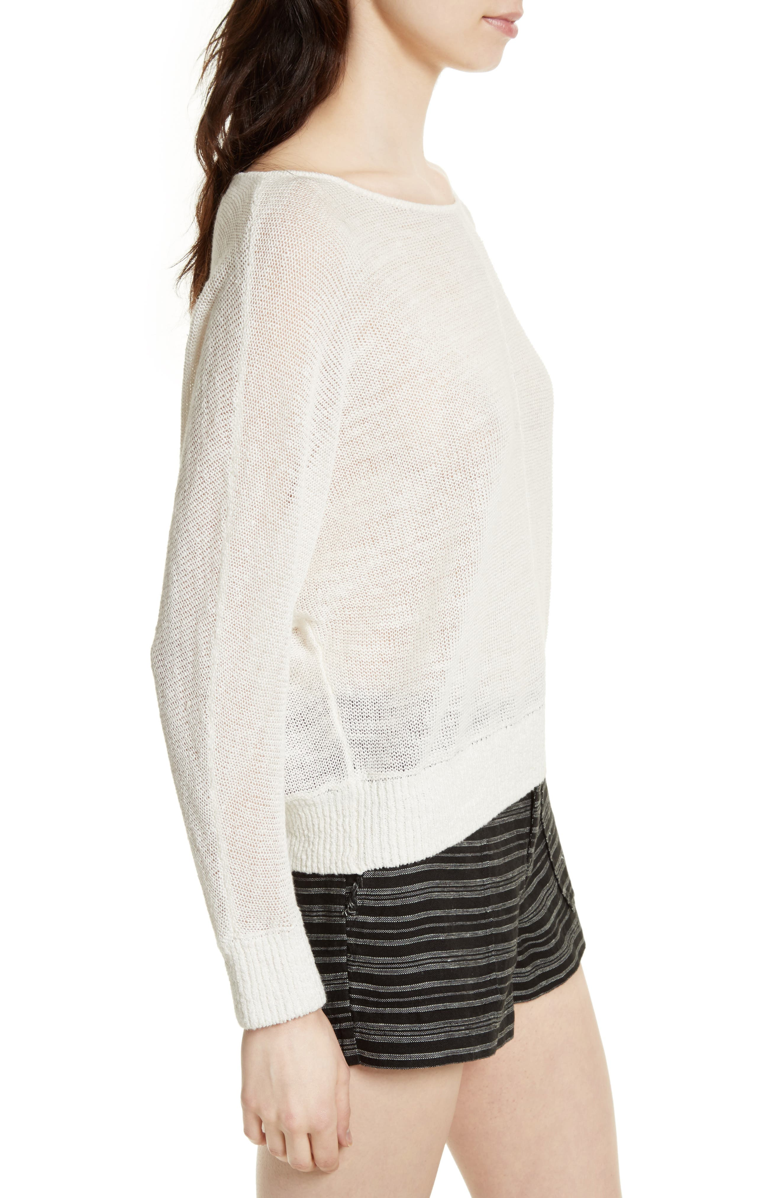 Alternate Image 3  - Joie Clady Linen Open Knit Pullover
