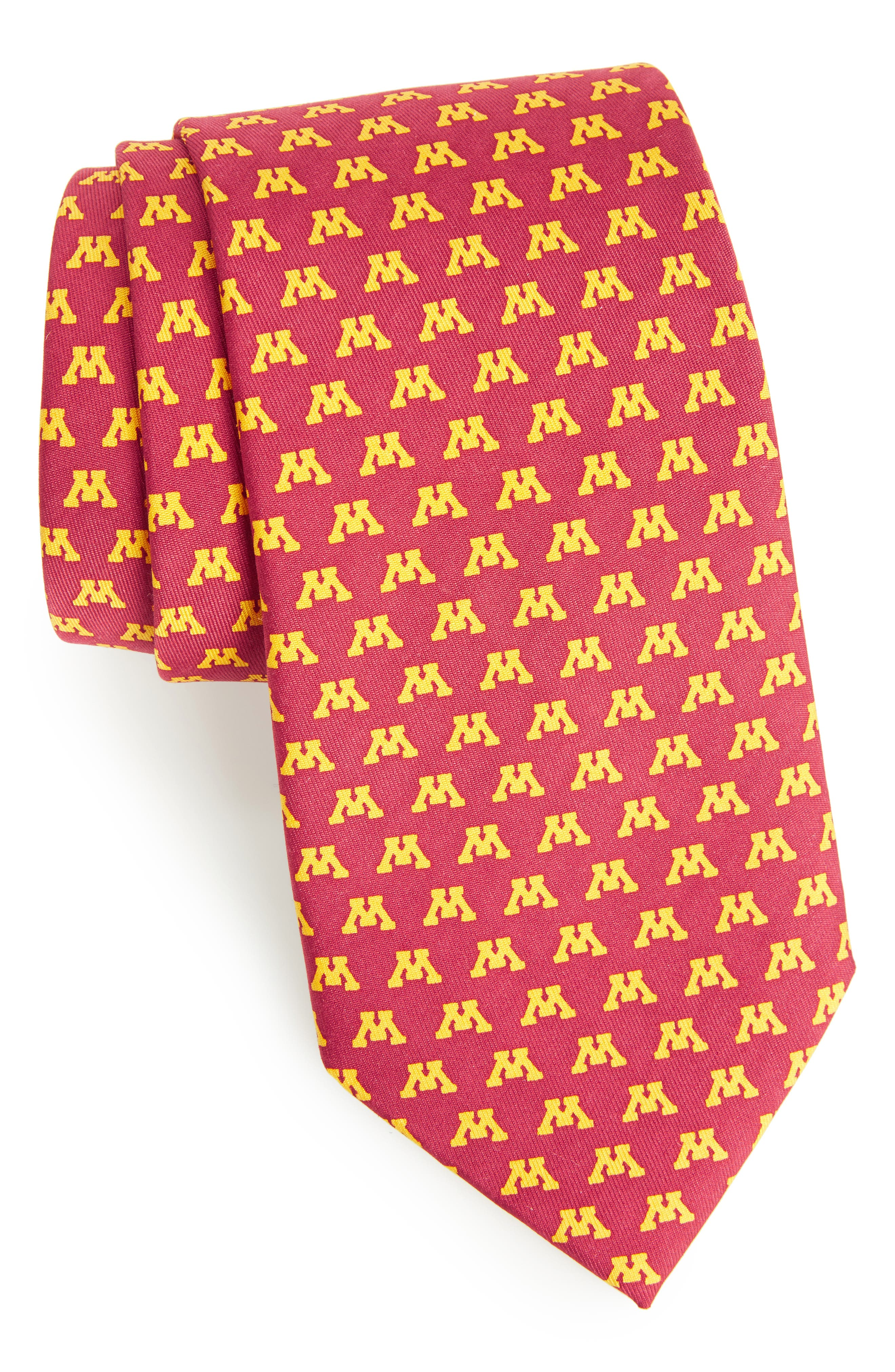 University of Minnesota Silk Tie,                             Main thumbnail 1, color,                             College Ma
