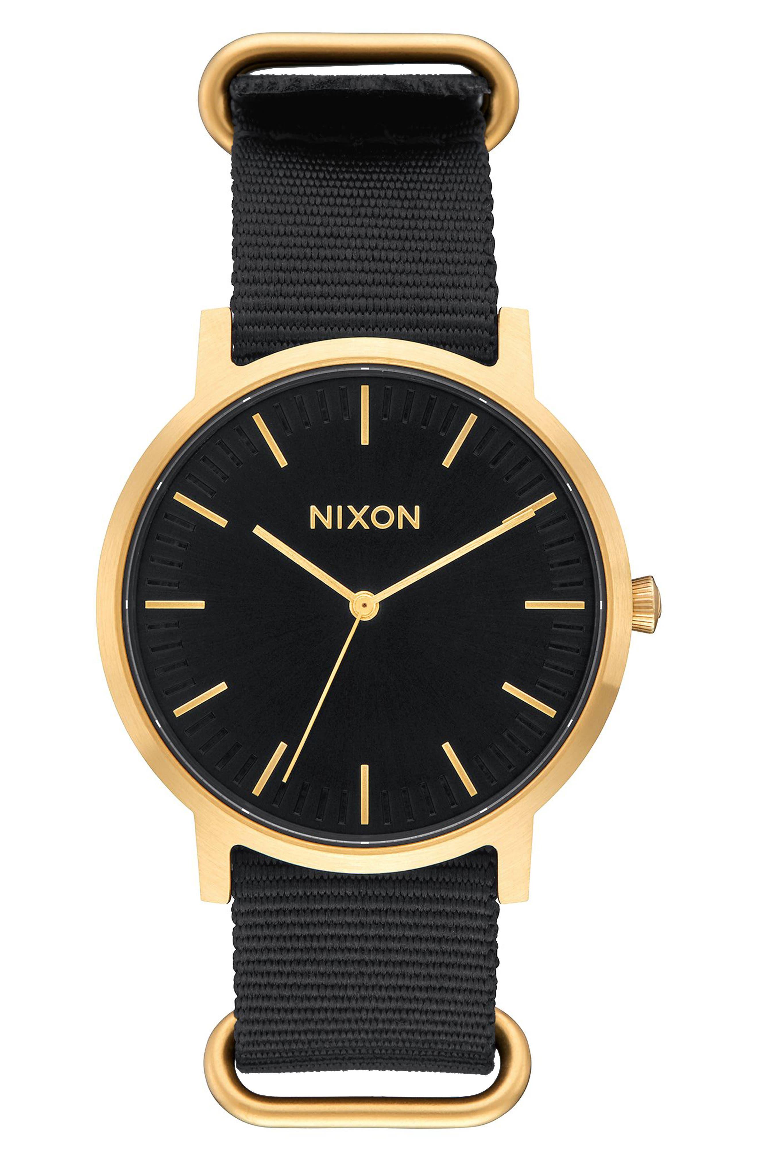 NIXON Porter Nylon Strap Watch, 40mm
